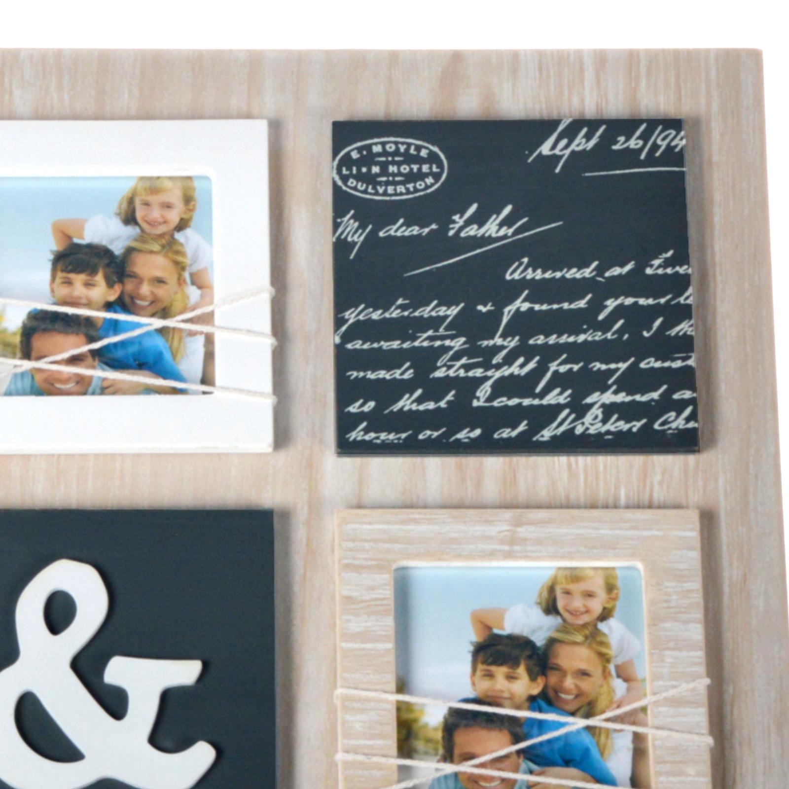9er bilderrahmen foto galerierahmen 5 fotos kinderbilder wohnzimmer freunde neu. Black Bedroom Furniture Sets. Home Design Ideas