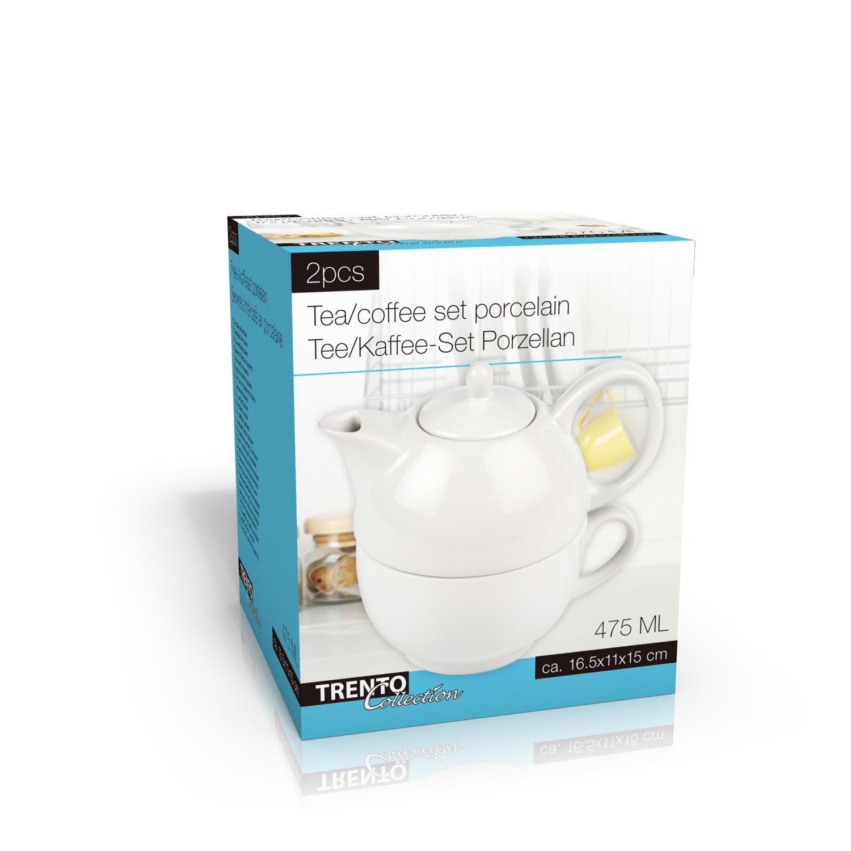 tea for one set teekanne mit tasse porzellan tee kaffee teeservice deko set ebay. Black Bedroom Furniture Sets. Home Design Ideas
