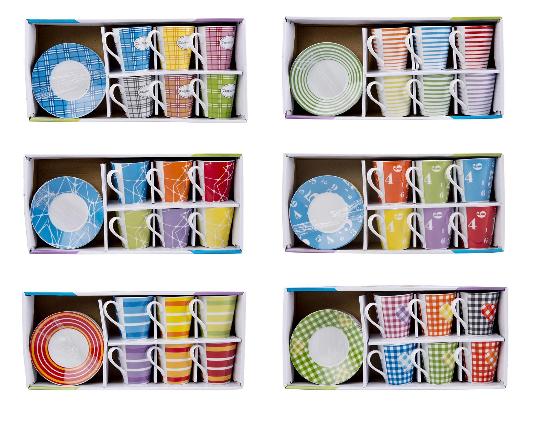 kaffeeservice teeservice tasse mit untersetzer 6er set. Black Bedroom Furniture Sets. Home Design Ideas