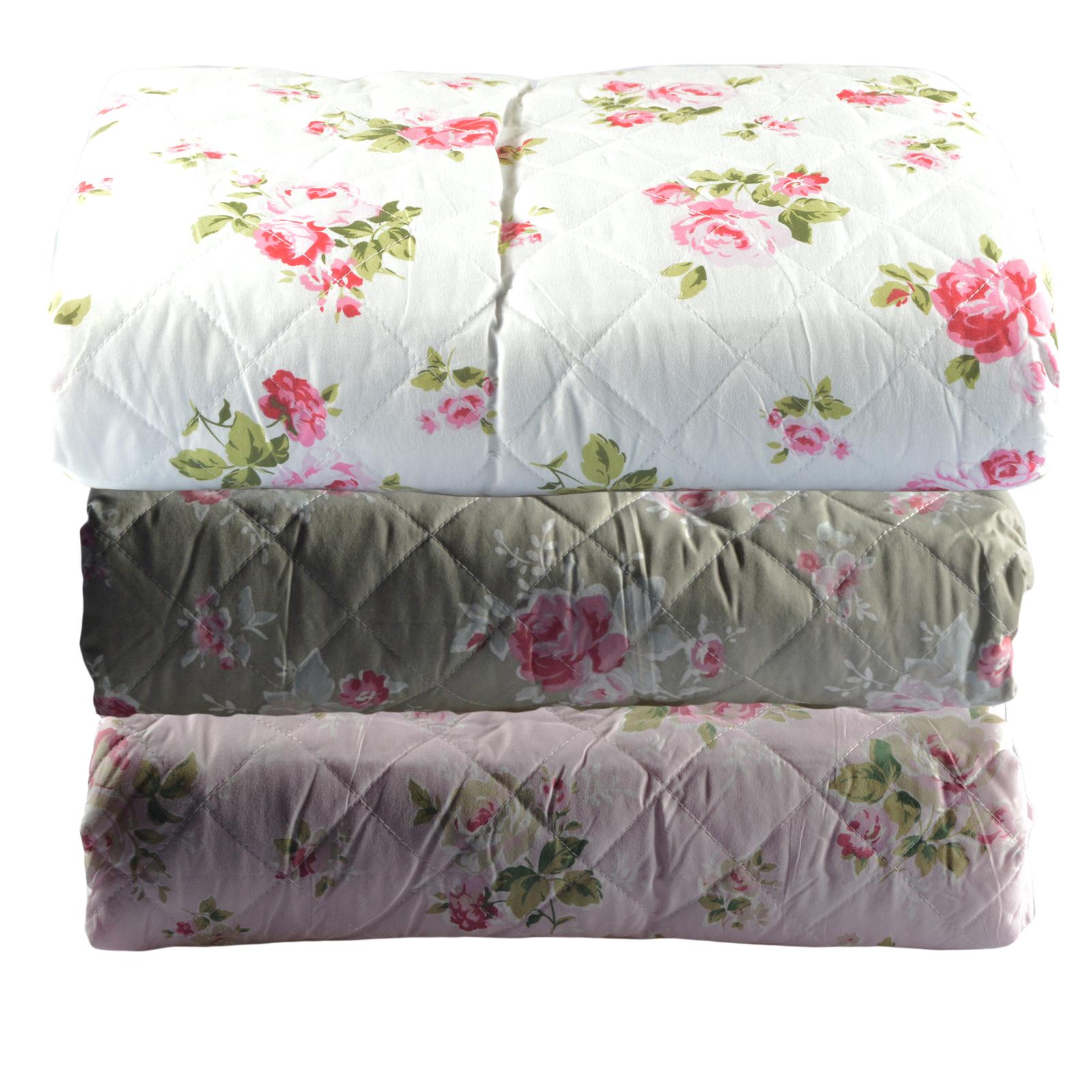 xxl tagesdecke romantik decke bergr e bett berwurf blumen kuschelig 240x220 ebay. Black Bedroom Furniture Sets. Home Design Ideas