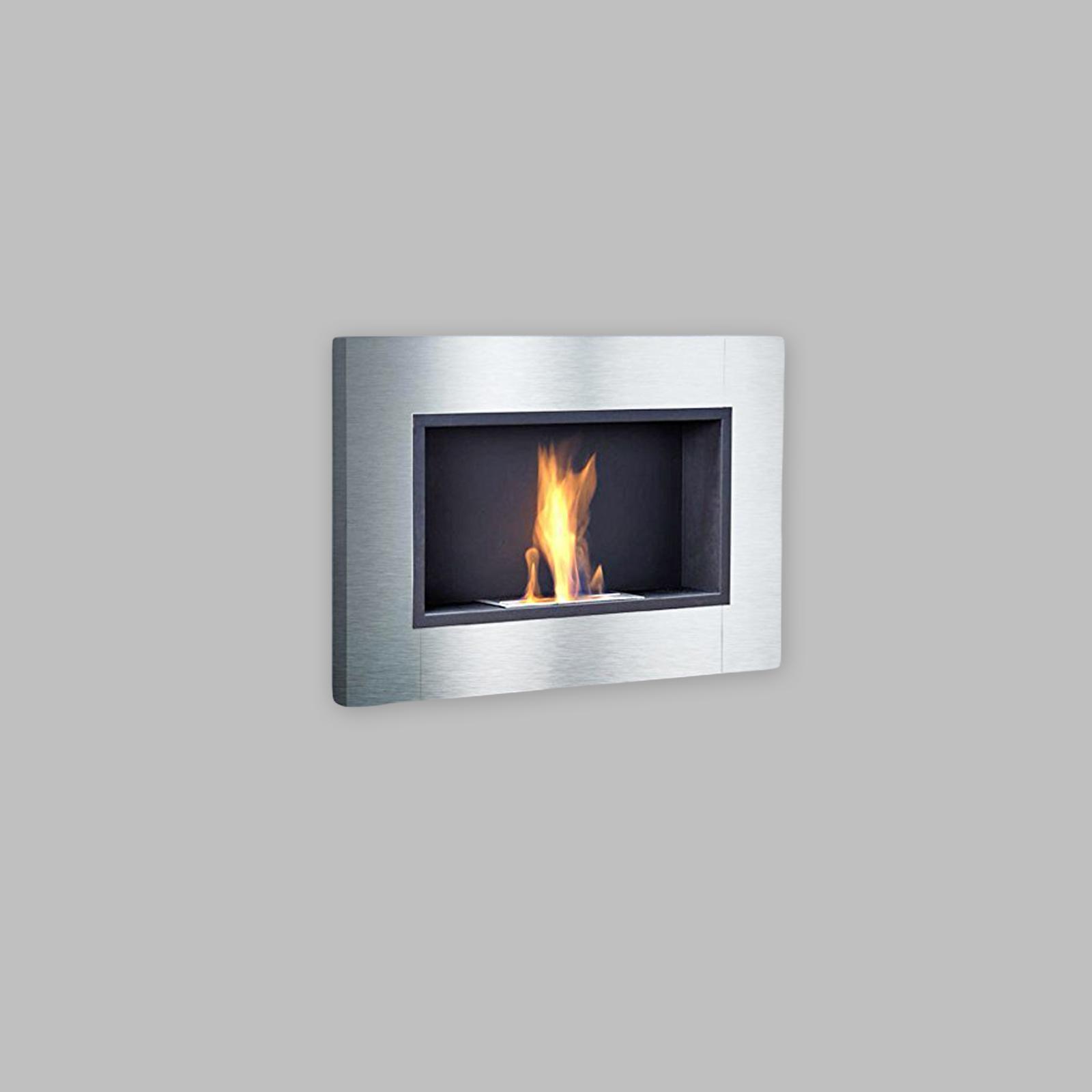 Luxury Stainless Steel Bio Ethanol Fireplace Gelkamin Gel