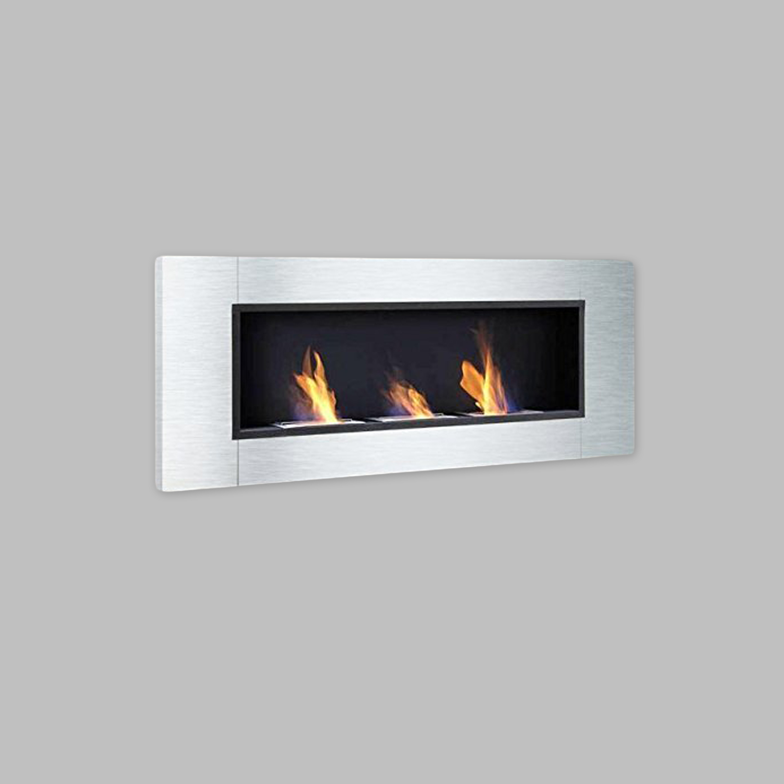 Luxury Stainless Steel Bio Ethanol Fireplace Gelkamin Gel