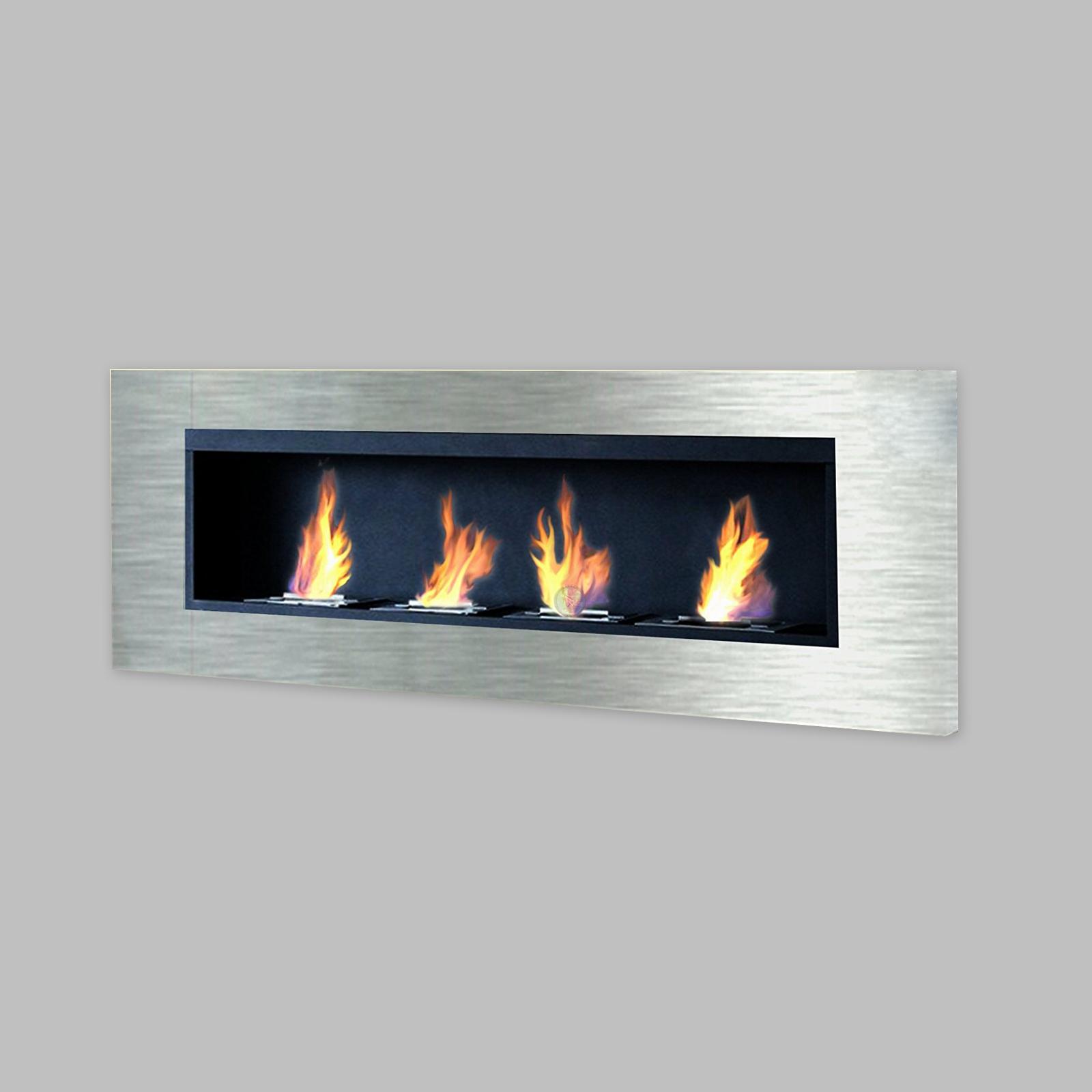 Luxury stainless steel bio ethanol fireplace gelkamin gel for Alcohol gel fireplace