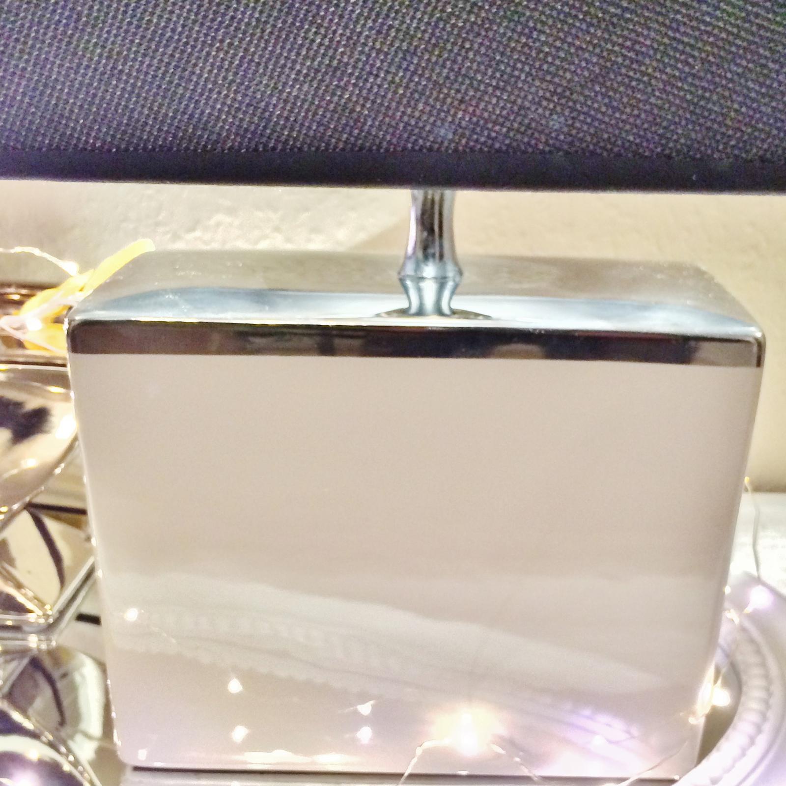 rechteckig tischlampe braun silber shabby chic tischleuchte keramiklampe deko ebay. Black Bedroom Furniture Sets. Home Design Ideas