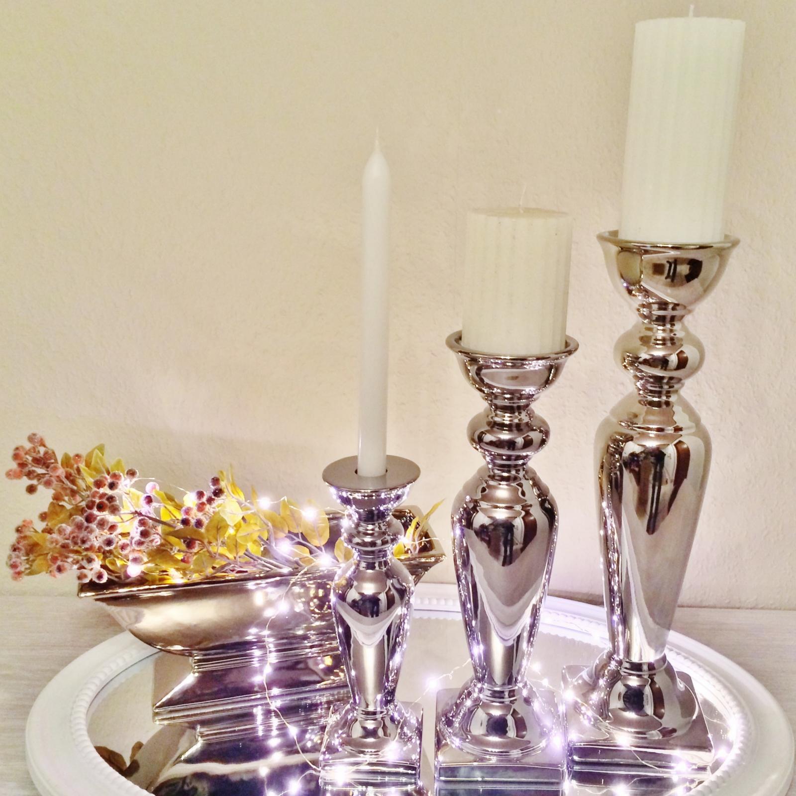 3 misure porta candele candela decorazione in ceramica for Decorazione ceramica