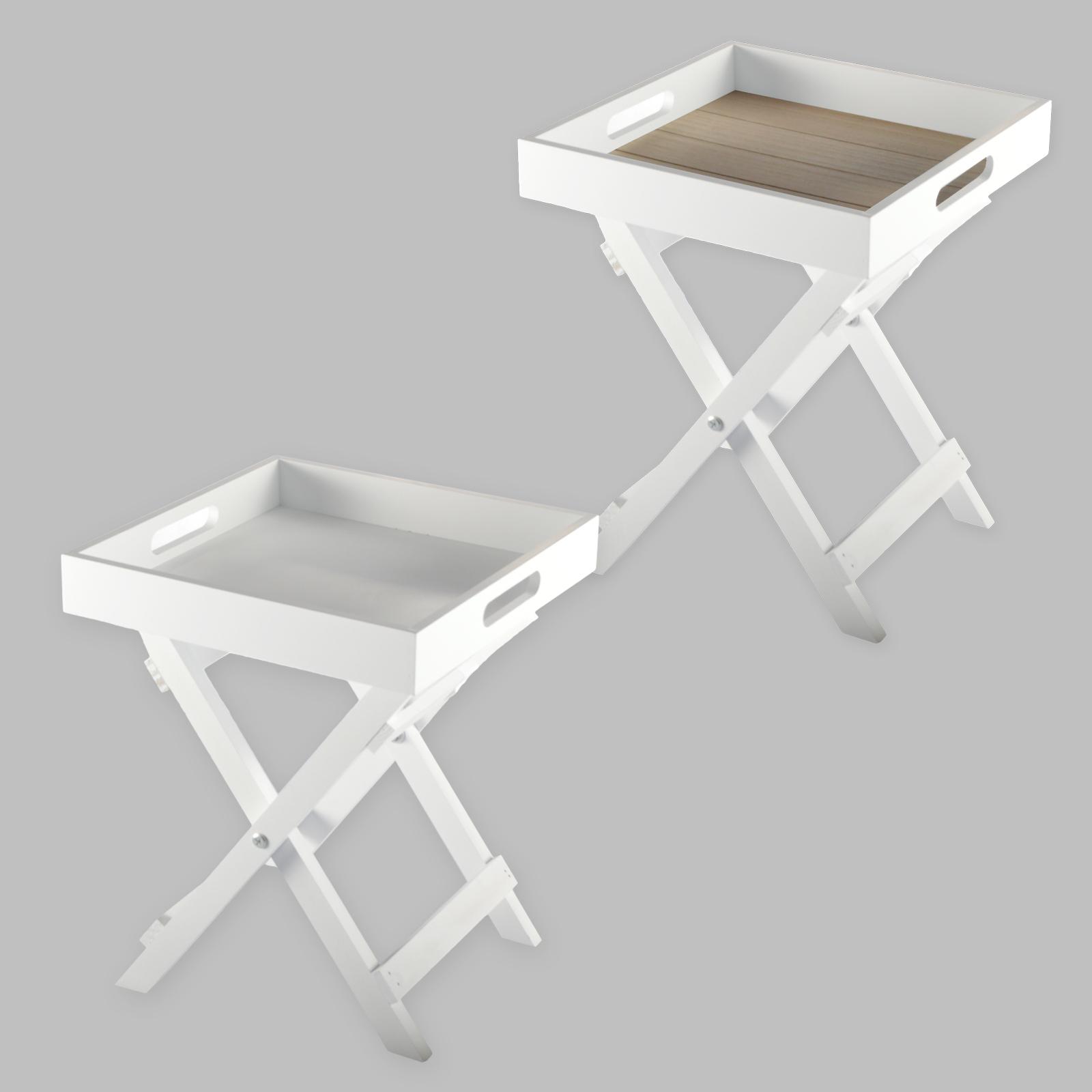 Mayordomo bandeja mini plegar mesa plegable madera de for Mesa centro plegable