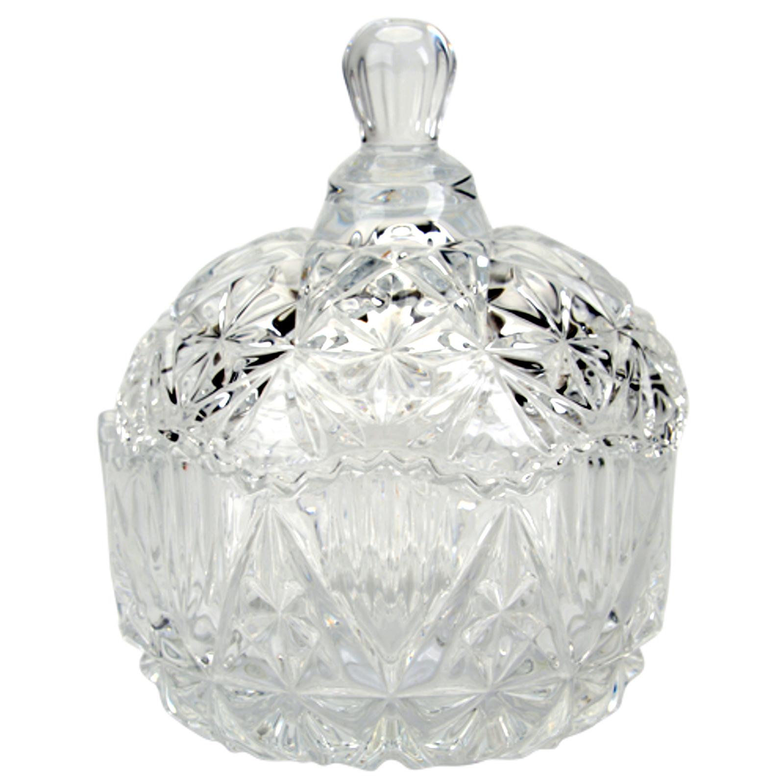Kristallschale mit deckel glas schale glasbecher bonboniere mit verzierungen ebay for Edelstahlsaule mit schale