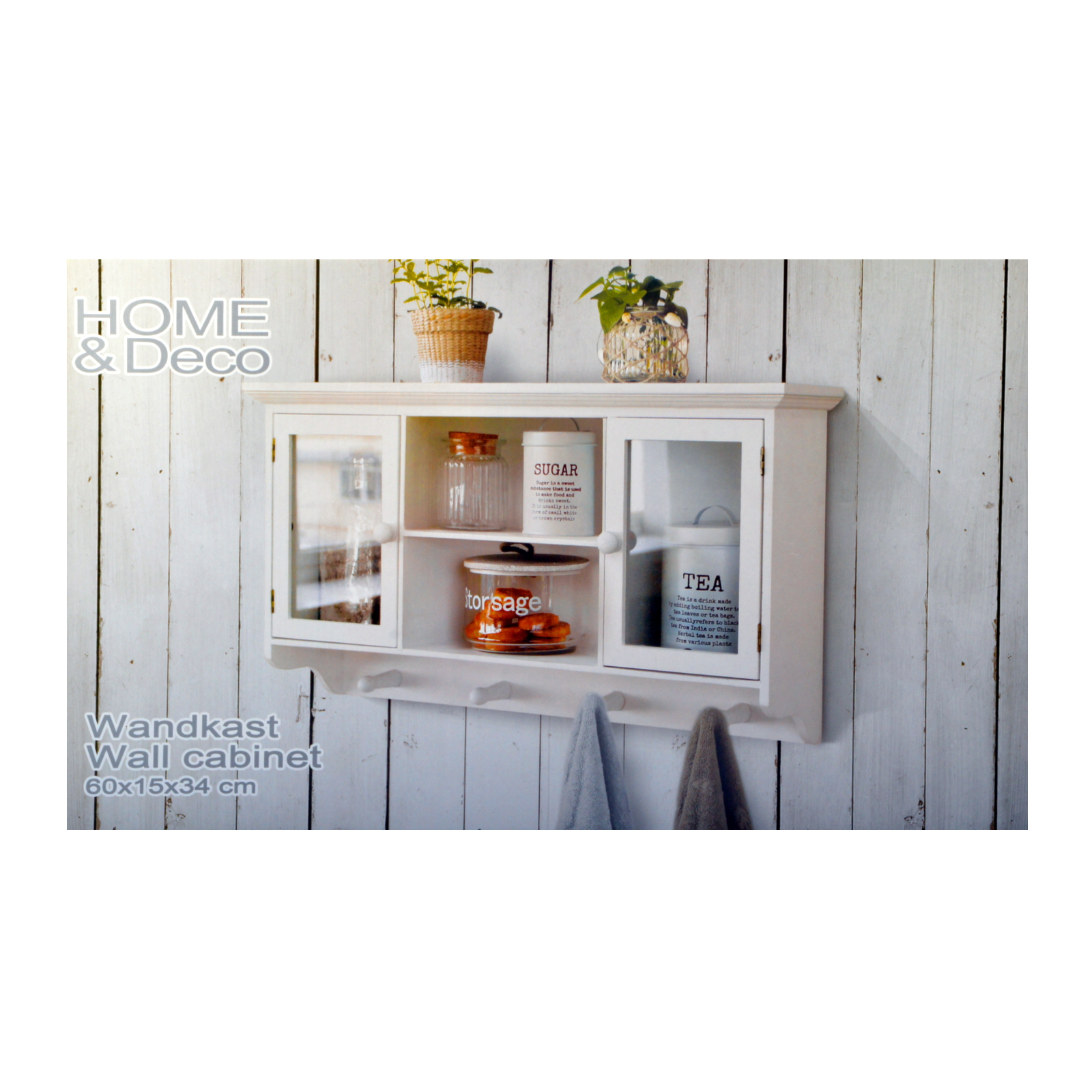 wall cabinet coat rack mounted showcase white shelf. Black Bedroom Furniture Sets. Home Design Ideas