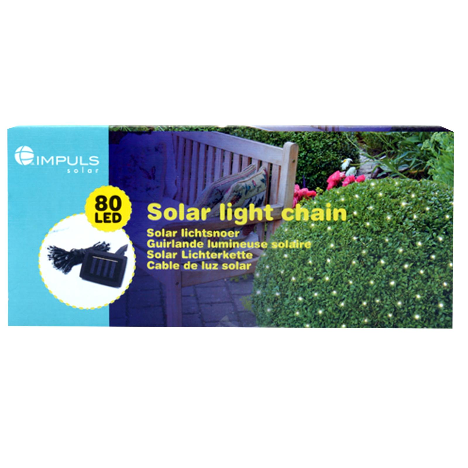 80 led solarlichterkette licht sommer au enbeleuchtung lichterkette garten ebay. Black Bedroom Furniture Sets. Home Design Ideas