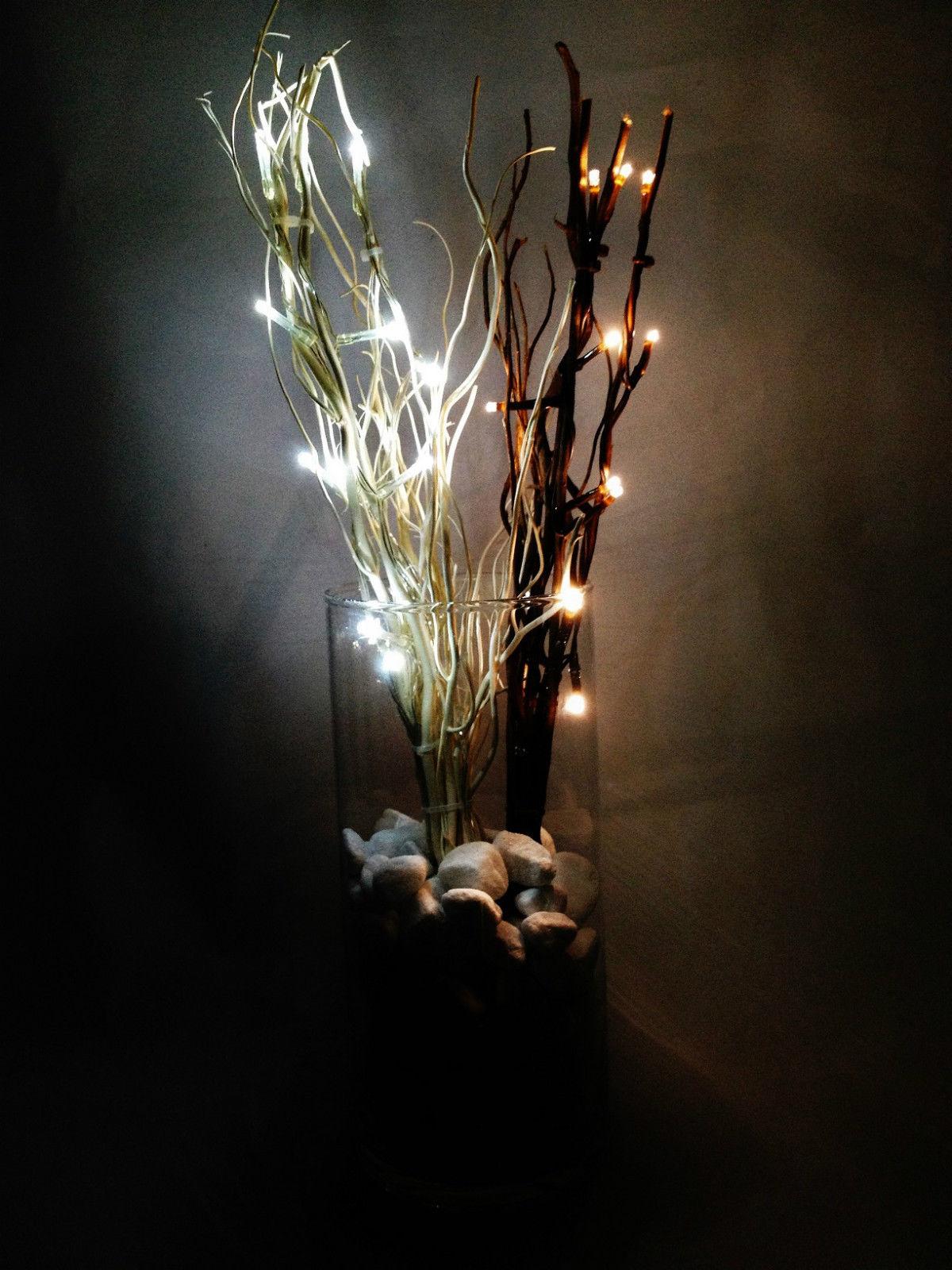 12 led brauner lichterbaum lichterzweig 40 cm batterieben leuchtbaum ebay. Black Bedroom Furniture Sets. Home Design Ideas