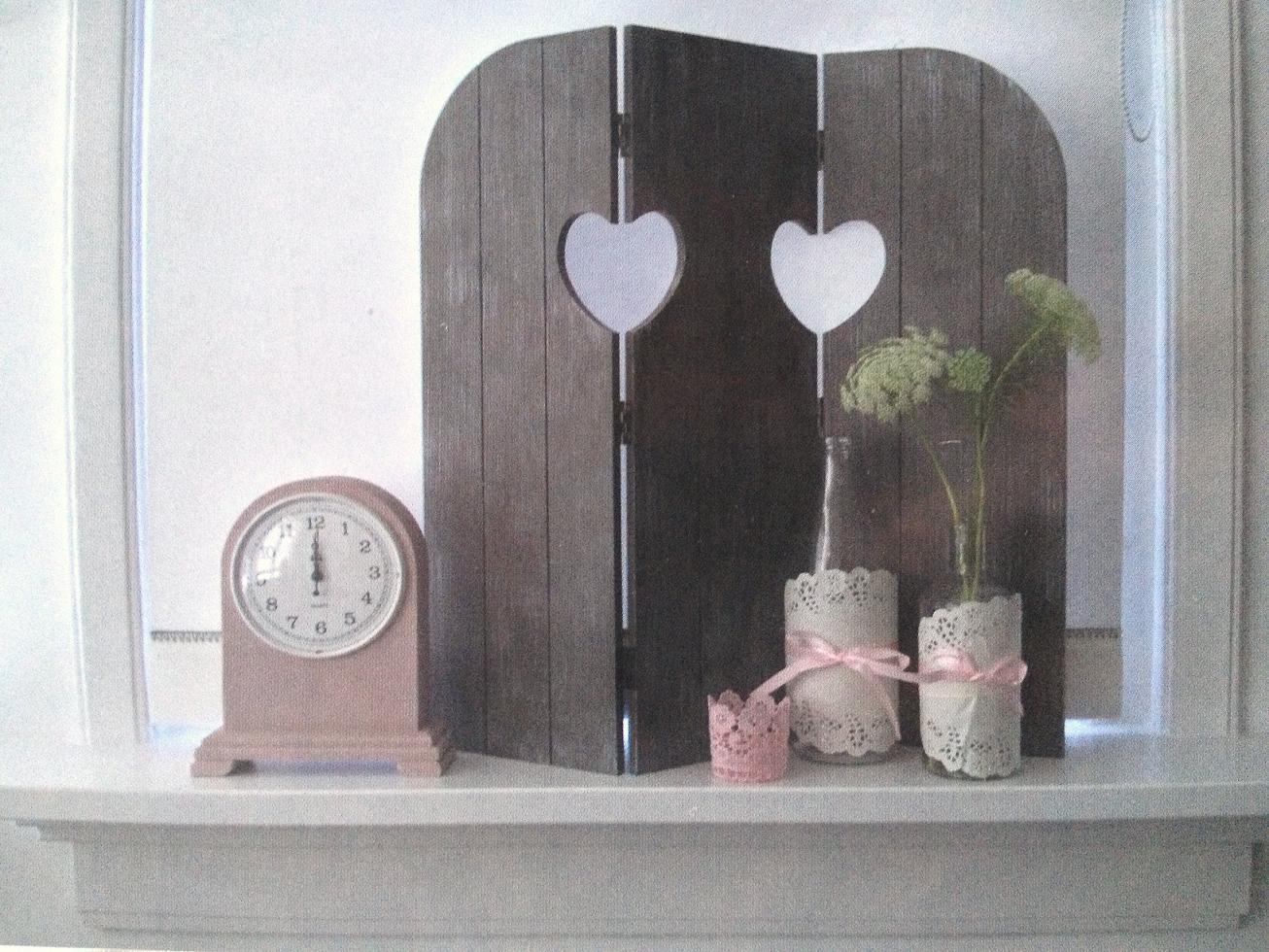 58 Cm Wandschirm Fensterdeko Shabby Fensterladen Deko Herz
