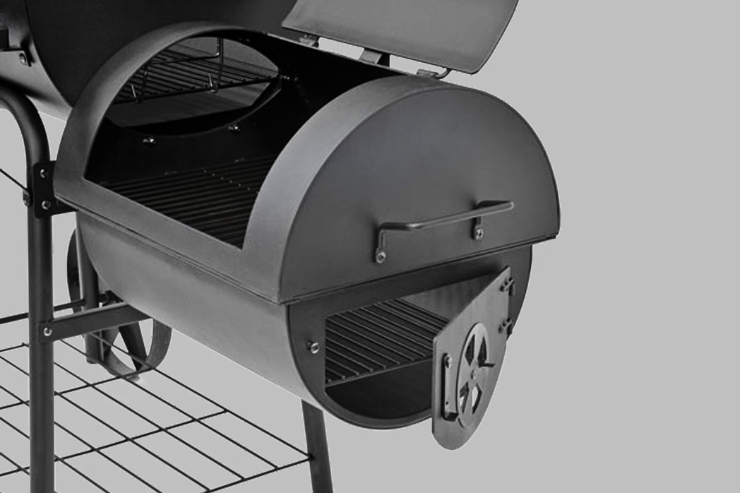 bbq profi smoker grillwagen 90kg holzkohle 3 5mm stahl massiv lokomotive. Black Bedroom Furniture Sets. Home Design Ideas