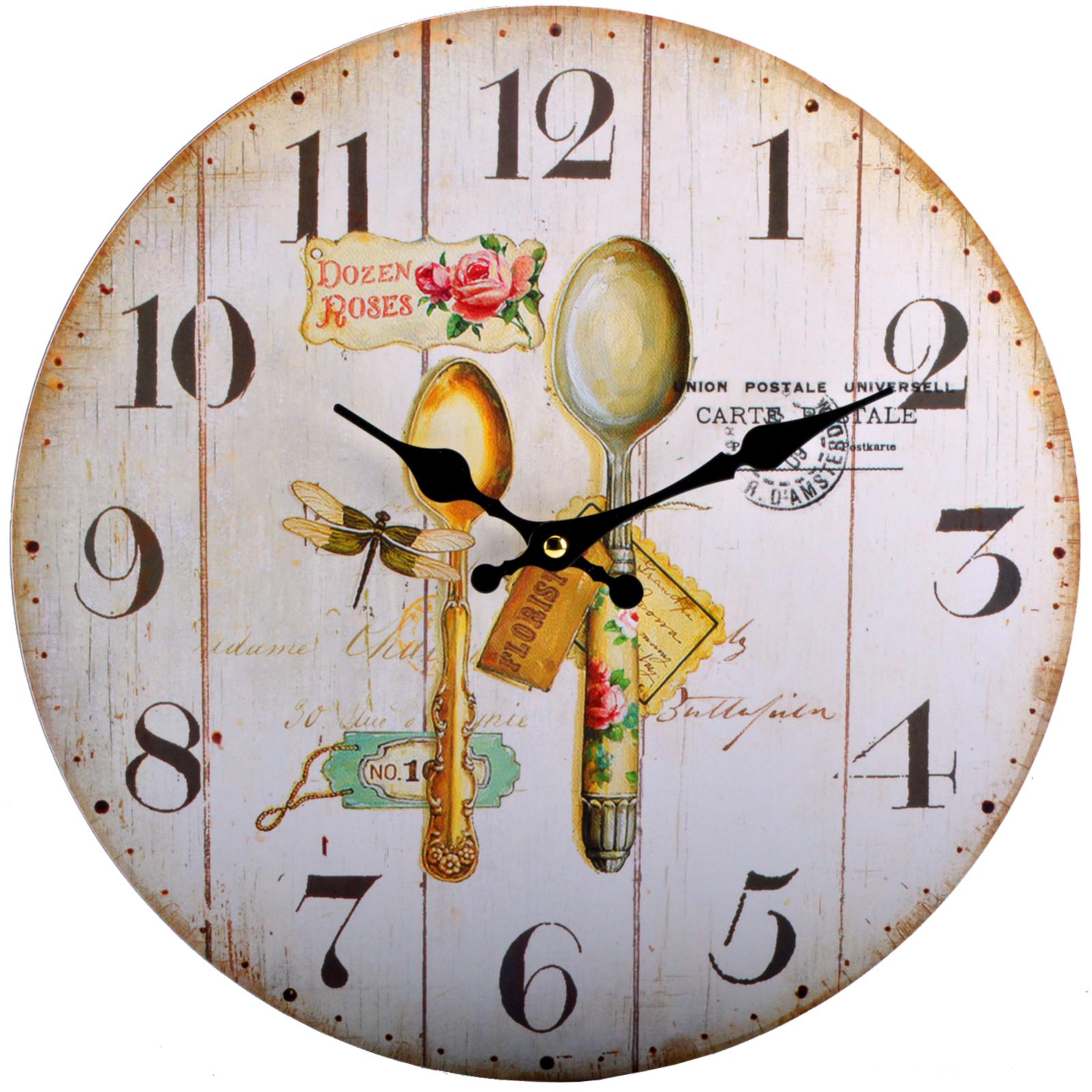 12 modelo relojes de pared casa campo madera cocina horas - Reloj de pared para cocina ...
