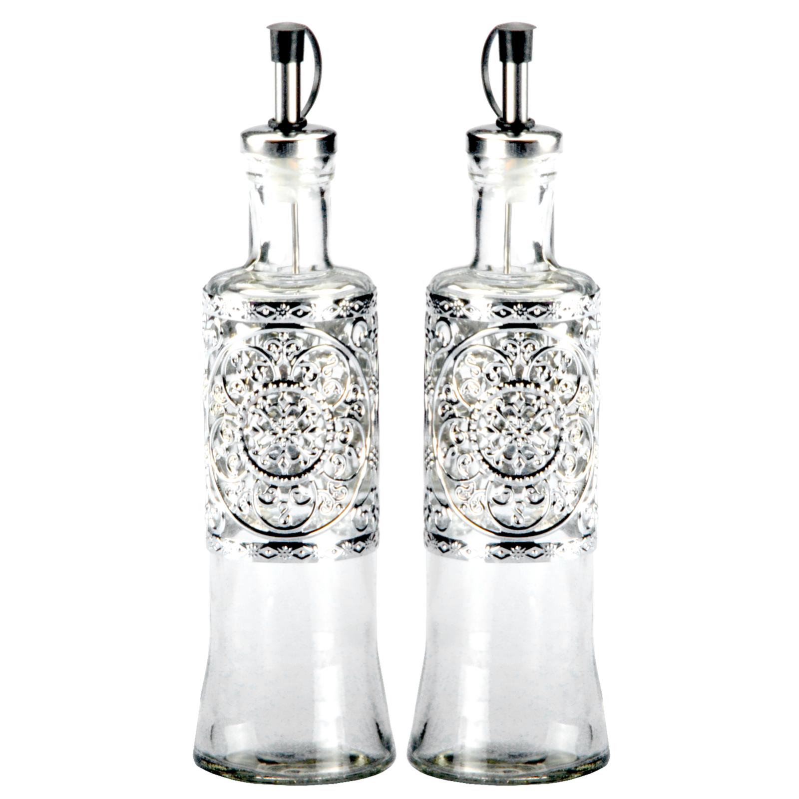 2 x essig l flasche essigspender lspender spender glas essigflasche lflasche ebay. Black Bedroom Furniture Sets. Home Design Ideas