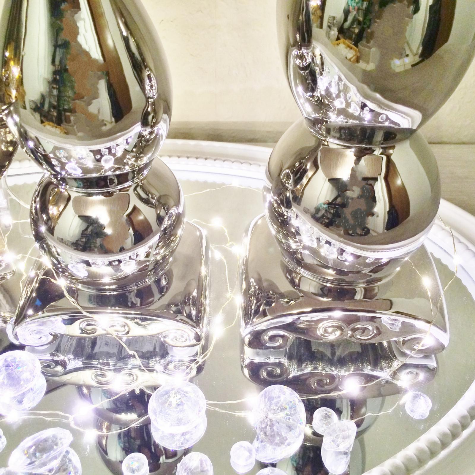Kerzenleuchter f1 kerzenst nder kerzenhalter deko keramik dekoration silber - Dekoration silber ...