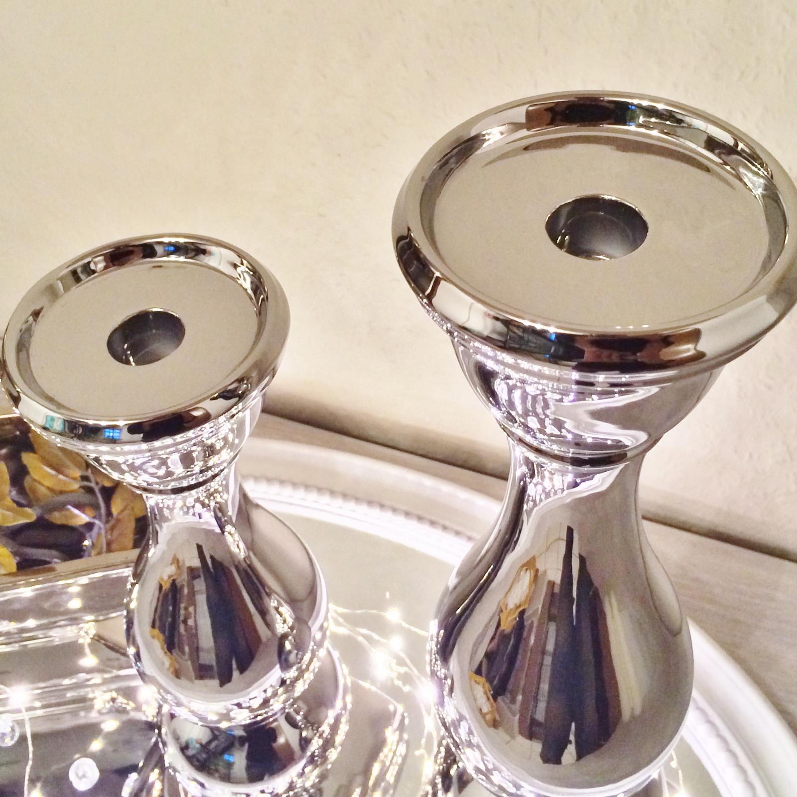 kerzenleuchter f1 kerzenst nder kerzenhalter deko keramik dekoration silber. Black Bedroom Furniture Sets. Home Design Ideas