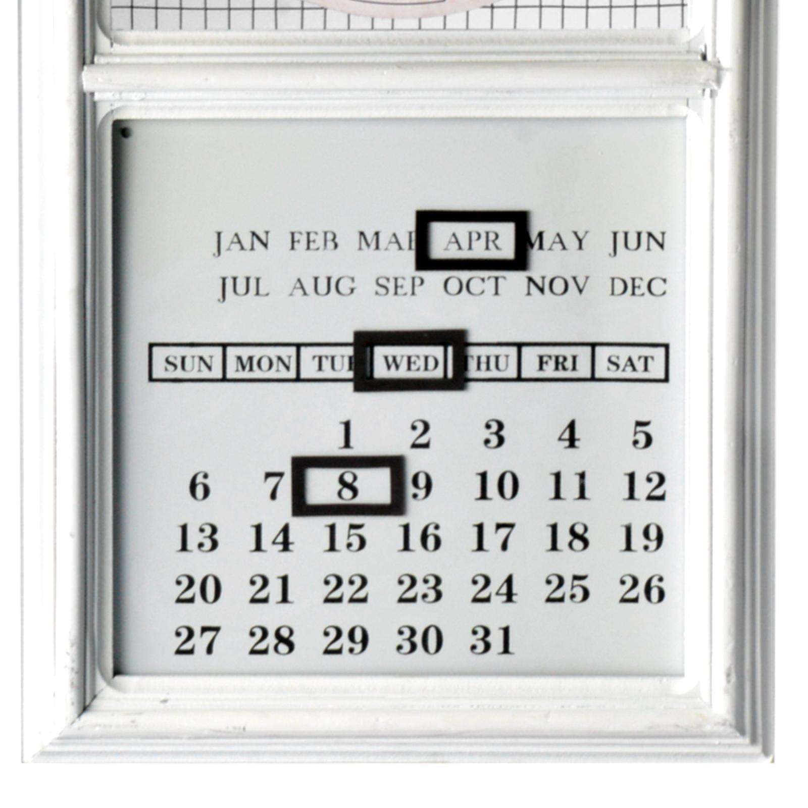 2 mod les horloge murale avec calendrier permanent vintage - Horloge murale avec calendrier ...