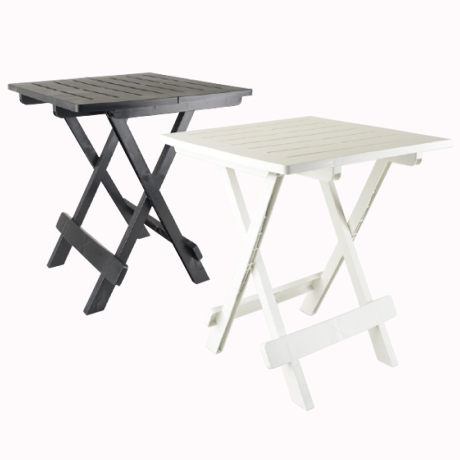 table pliante d 39 appoint terrasse camping pliable plastique blanc ebay. Black Bedroom Furniture Sets. Home Design Ideas