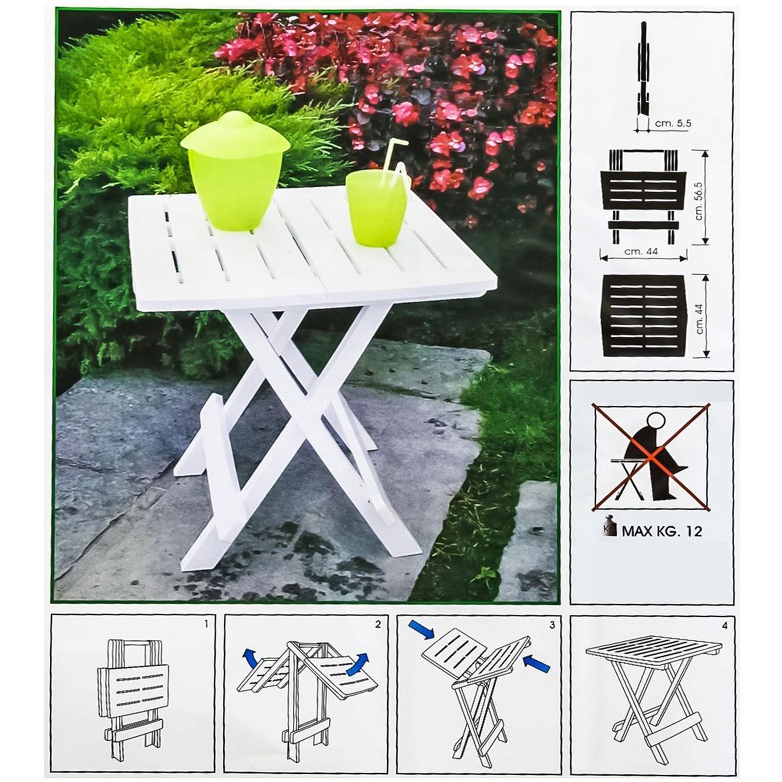 Table Pliante D 39 Appoint Terrasse Camping Pliable Plastique