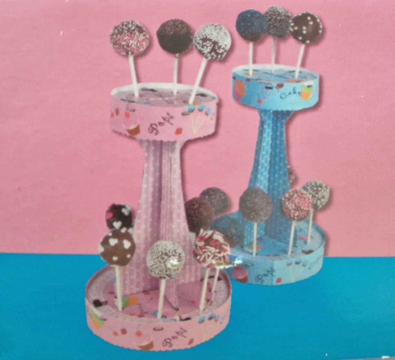 cake pop halter popcake etagere st nder rosa kuchen lolli f r 16 pops ebay. Black Bedroom Furniture Sets. Home Design Ideas