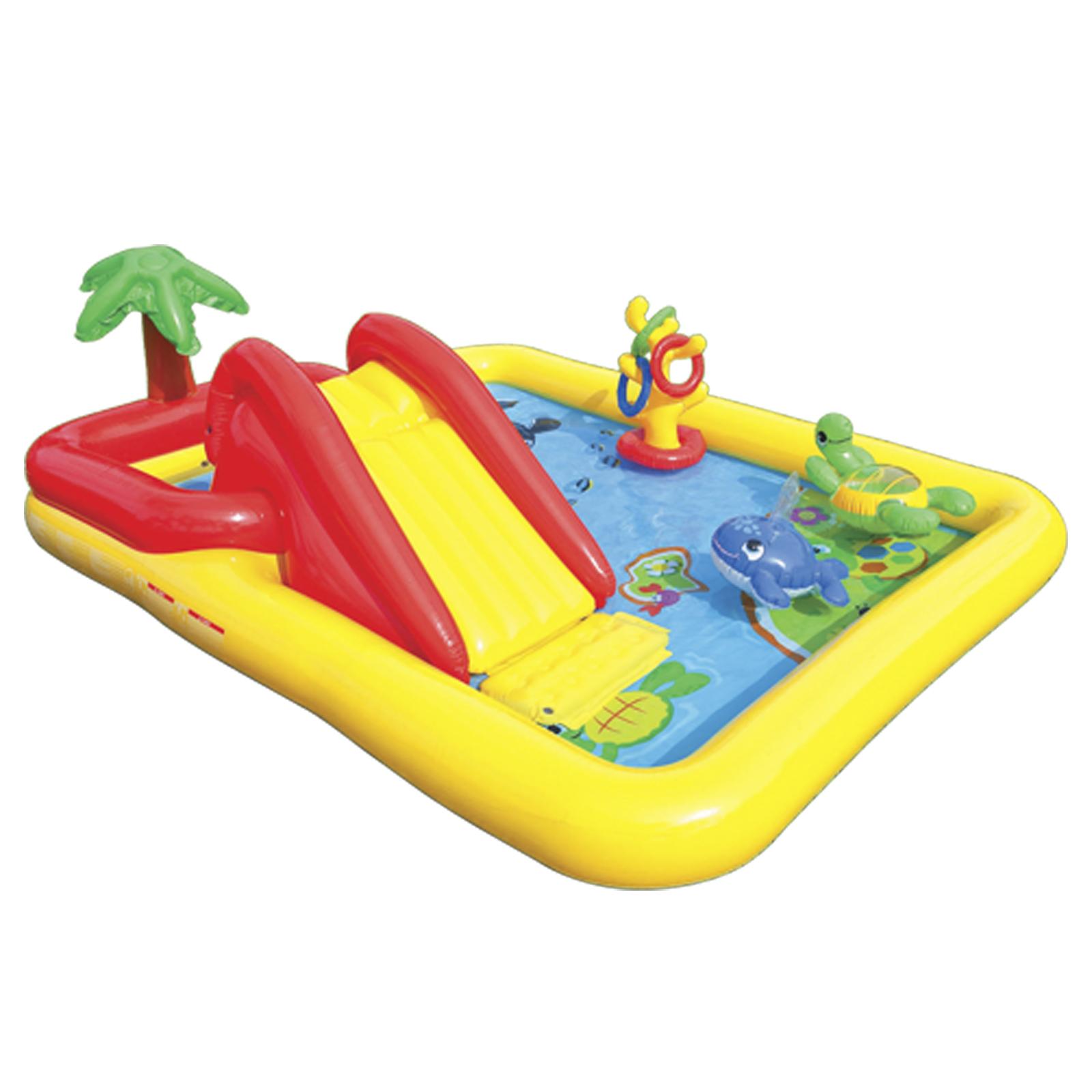 Kinder pool und spiel center planschbecken wasser rutsche for Gartenpool ebay