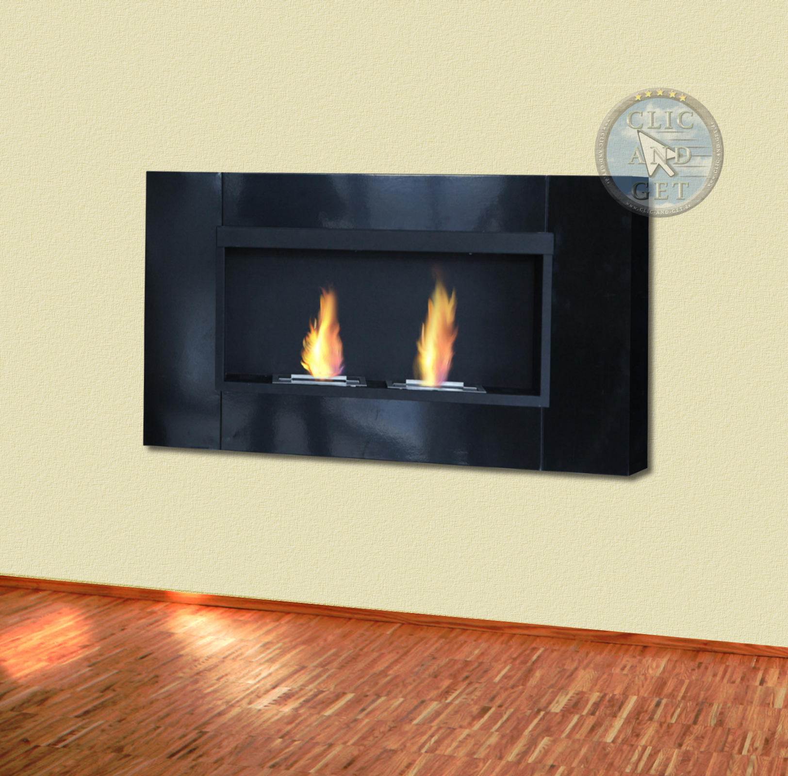 bio ethanol wall fireplace gel table ebay. Black Bedroom Furniture Sets. Home Design Ideas