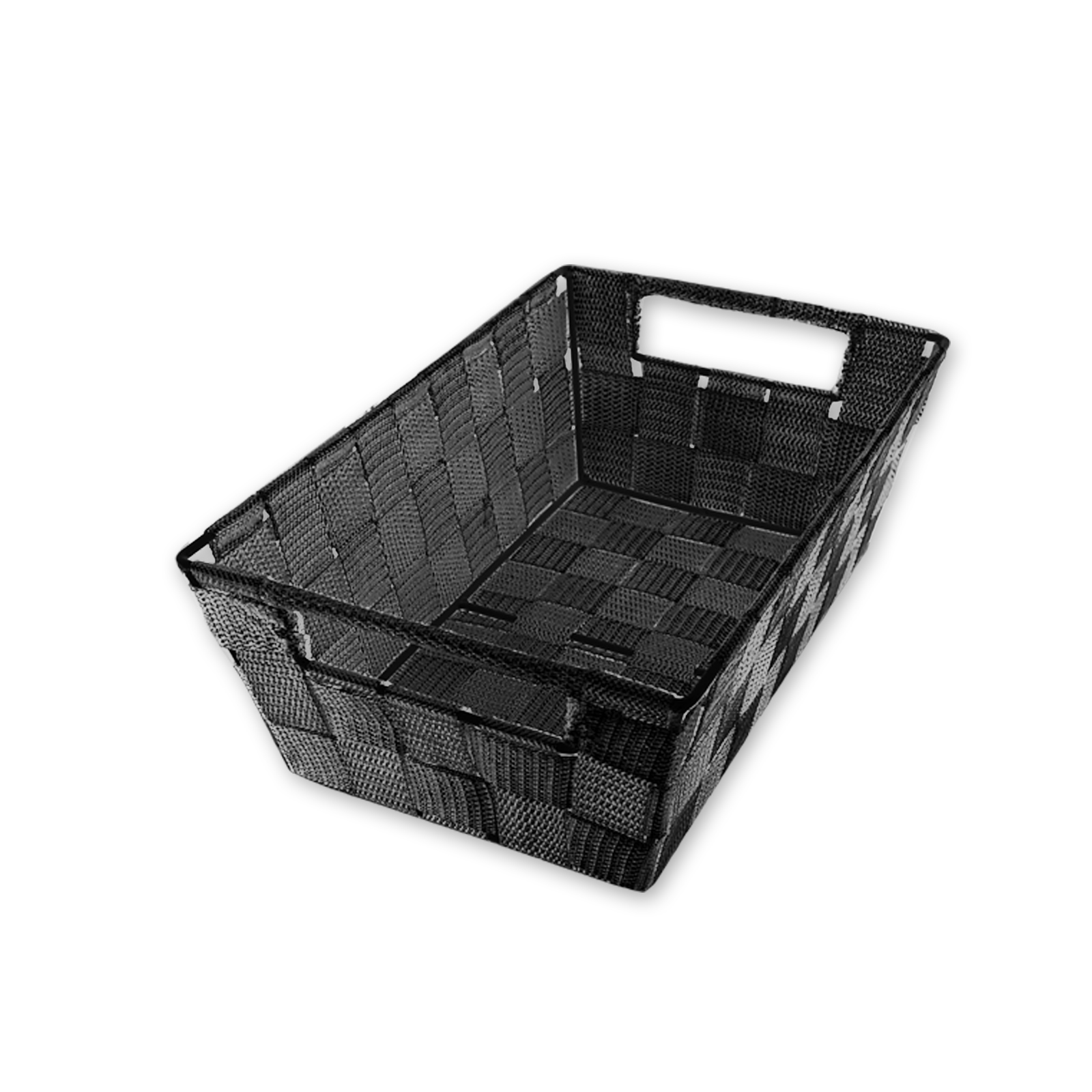Panier pour salle de bain plastique tresse corbeille for Rangement salle de bain plastique