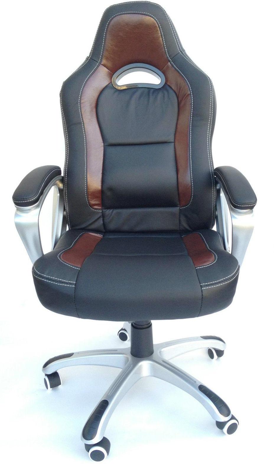 drehstuhl sportsitz chefsessel b rostuhl stuhl racing schalensitz b ro racer ebay. Black Bedroom Furniture Sets. Home Design Ideas