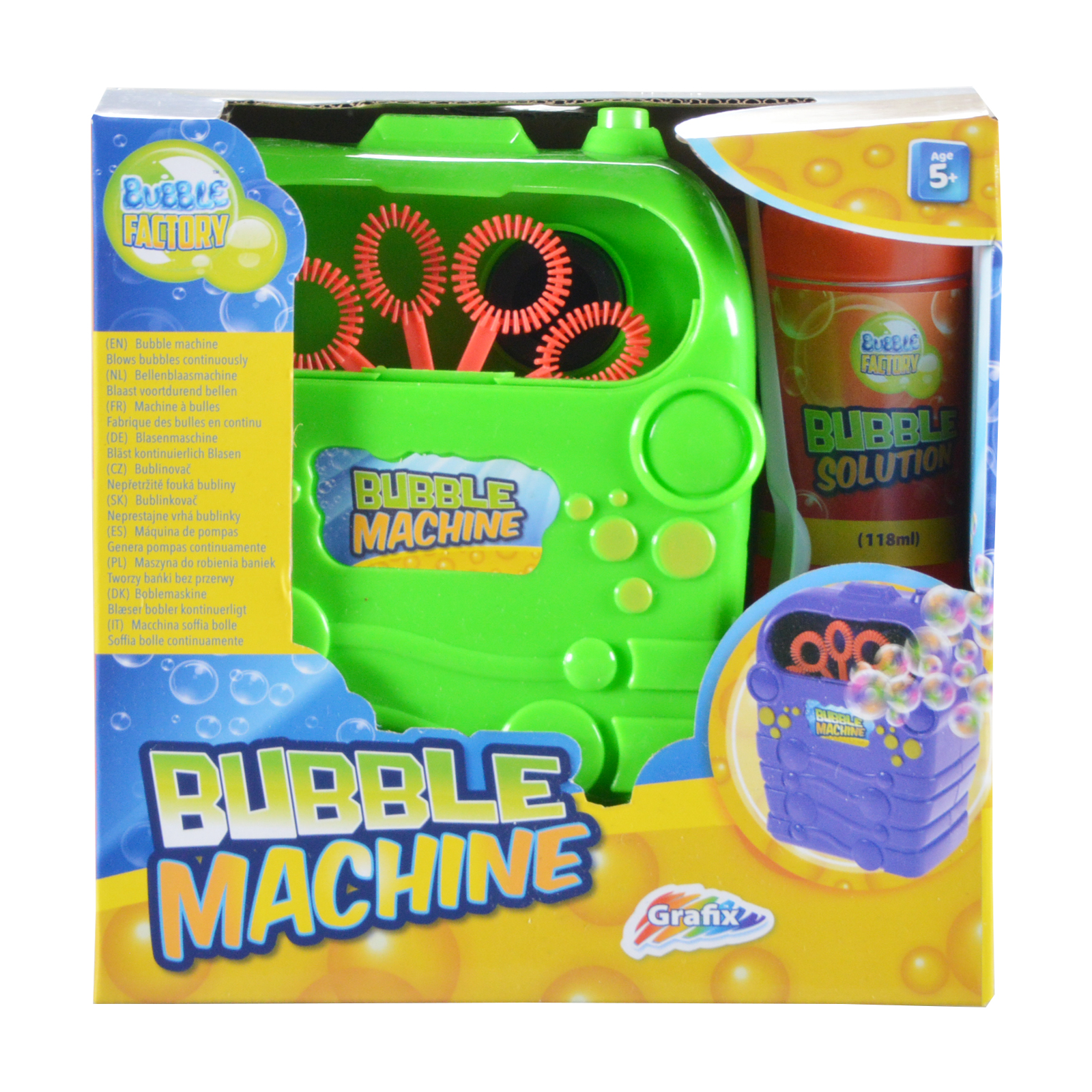 bubble machine solution