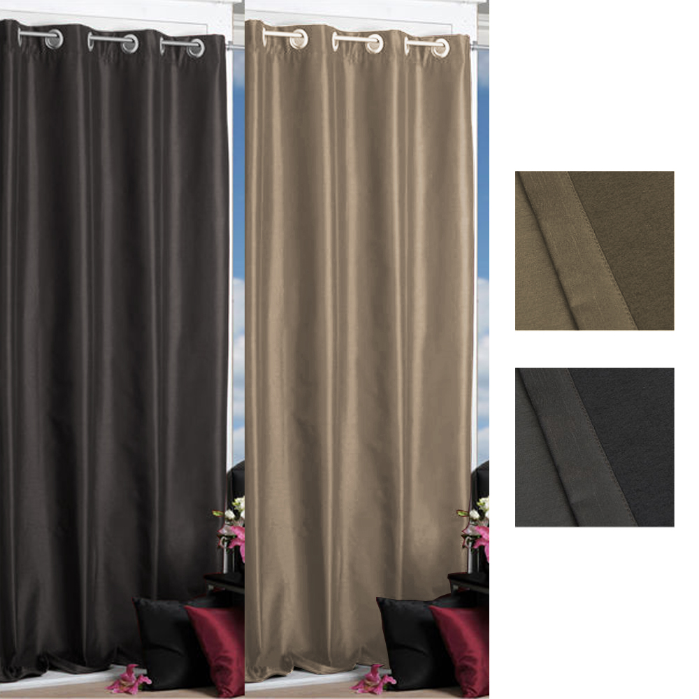 2 farben verdunkelungsgardinen sondergr en blickdicht gardine vorhang neu ebay. Black Bedroom Furniture Sets. Home Design Ideas