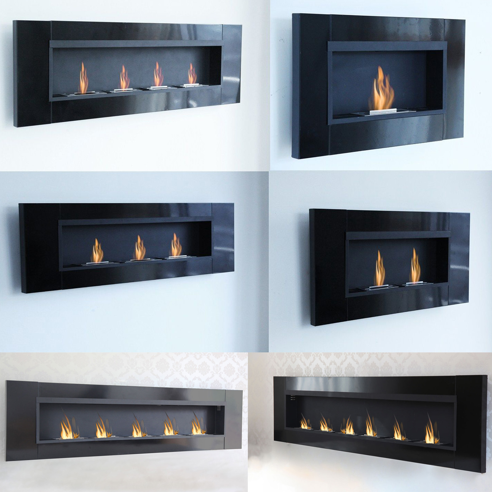 bio ethanol wall fireplace cheminee gel table. Black Bedroom Furniture Sets. Home Design Ideas