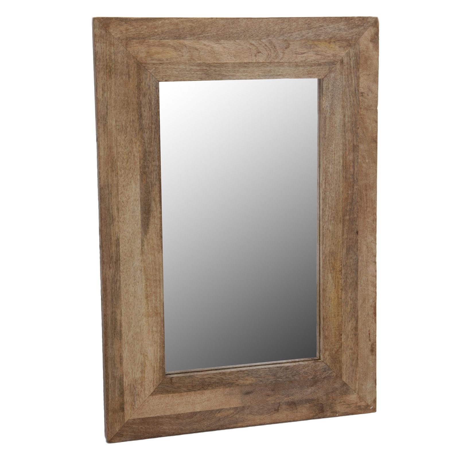 Wandspiegel im holzrahmen badezimmer spiegel natur mango rahmen massiv holz ebay - Arcade spiegel ...