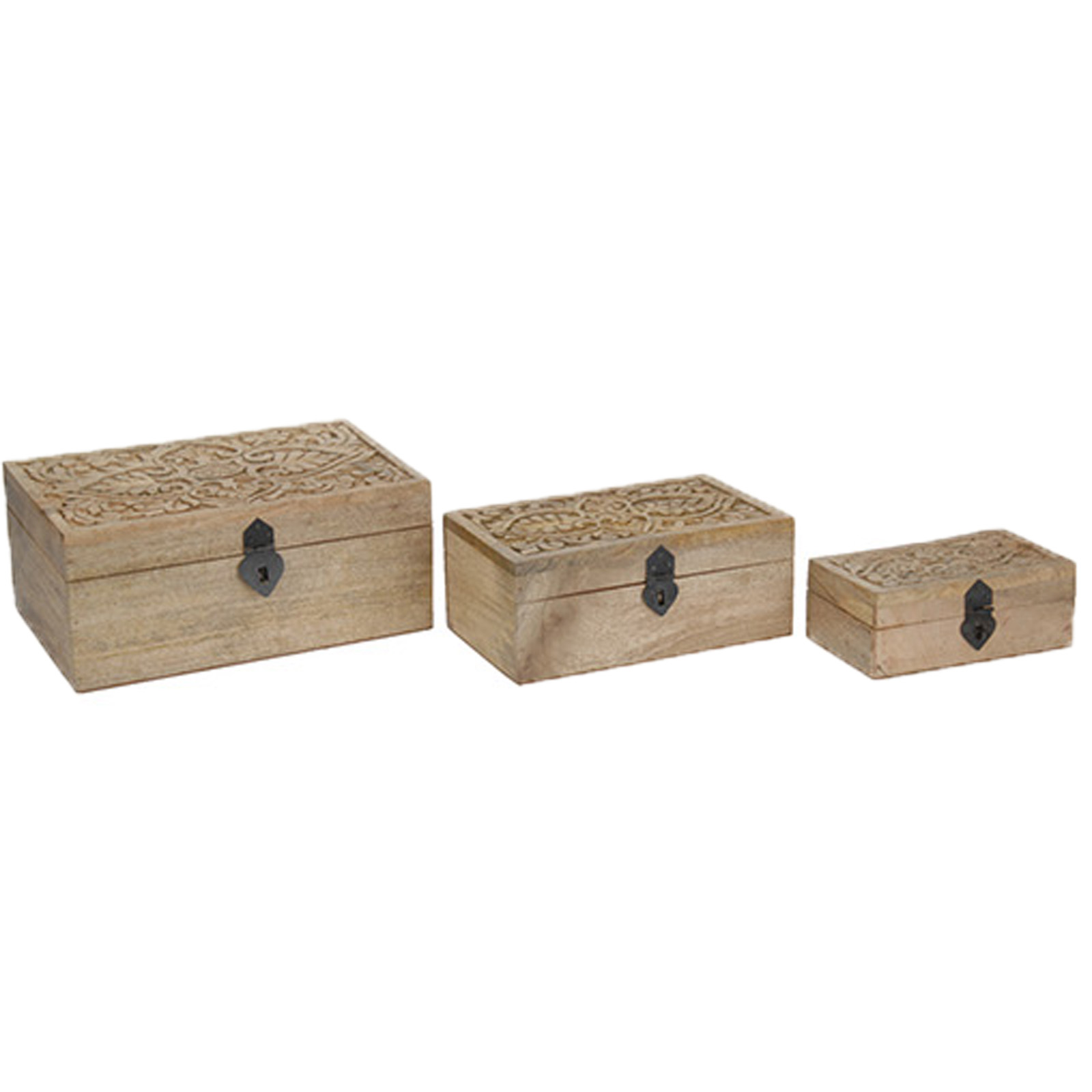 holz schatulle schmuckschatulle 3er set holztruhe box kiste schmuckbox antik ebay. Black Bedroom Furniture Sets. Home Design Ideas