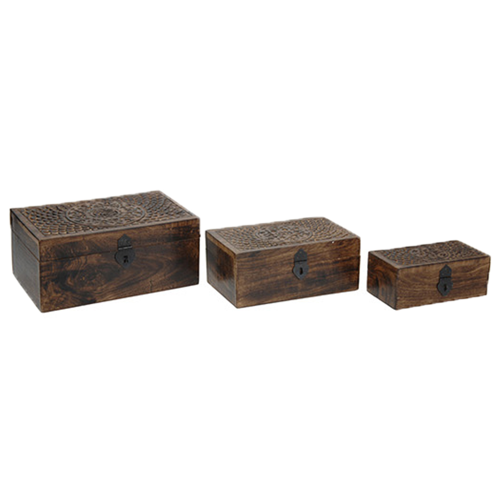 holz schatulle 3er set schmuckschatulle holz box truhe kiste schmuckbox antik ebay. Black Bedroom Furniture Sets. Home Design Ideas