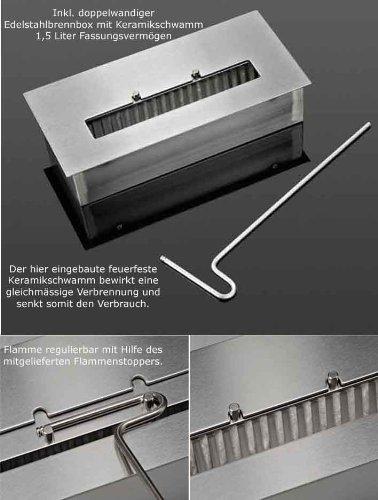 bioethanol brennkammer 2 5l edelstahl kamin gel keramikschwamm doppelwandig ebay. Black Bedroom Furniture Sets. Home Design Ideas