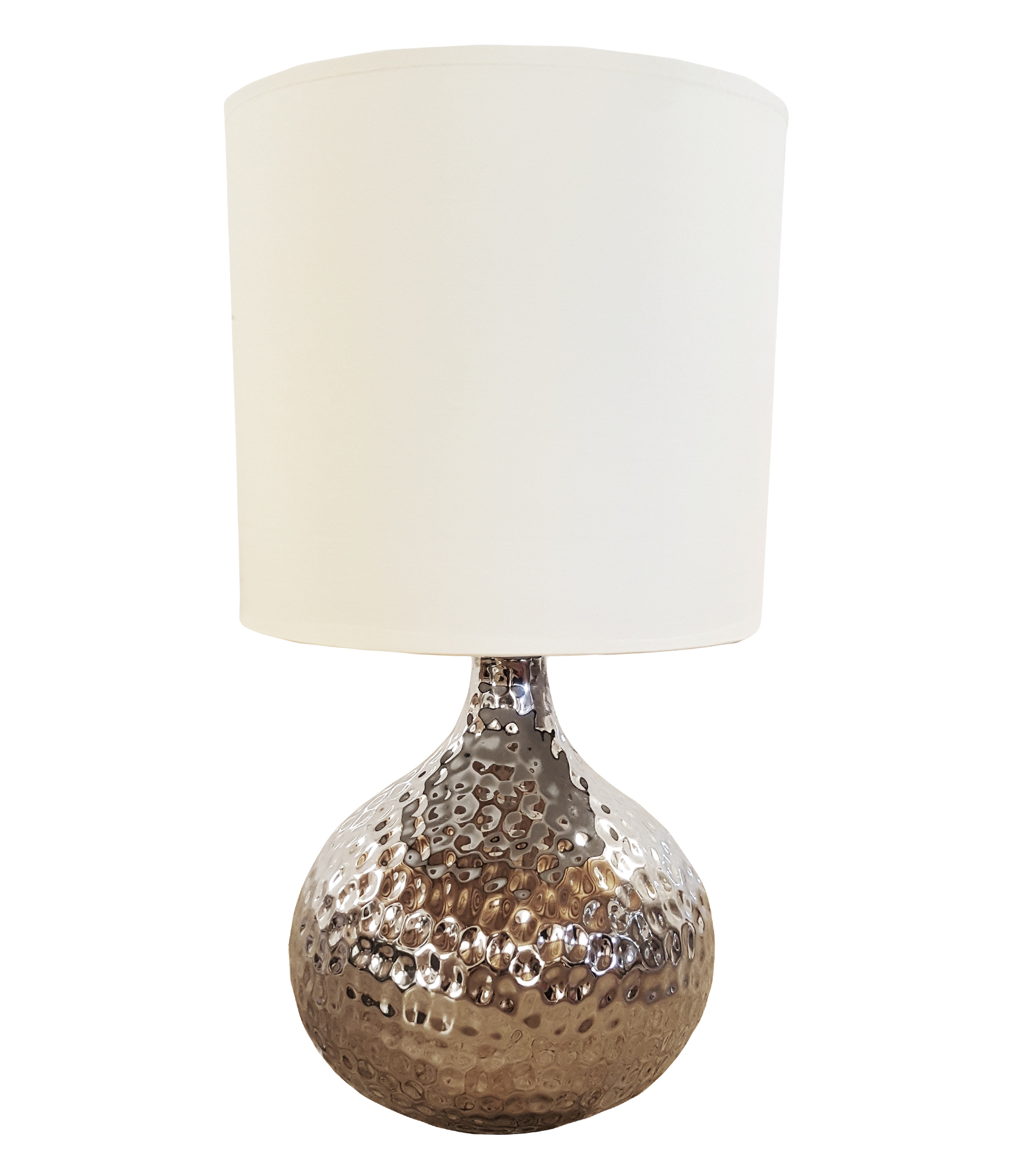 keramik lampe angi silber weiss tischlampe tischleuchte lampenfu lampenschirm ebay. Black Bedroom Furniture Sets. Home Design Ideas