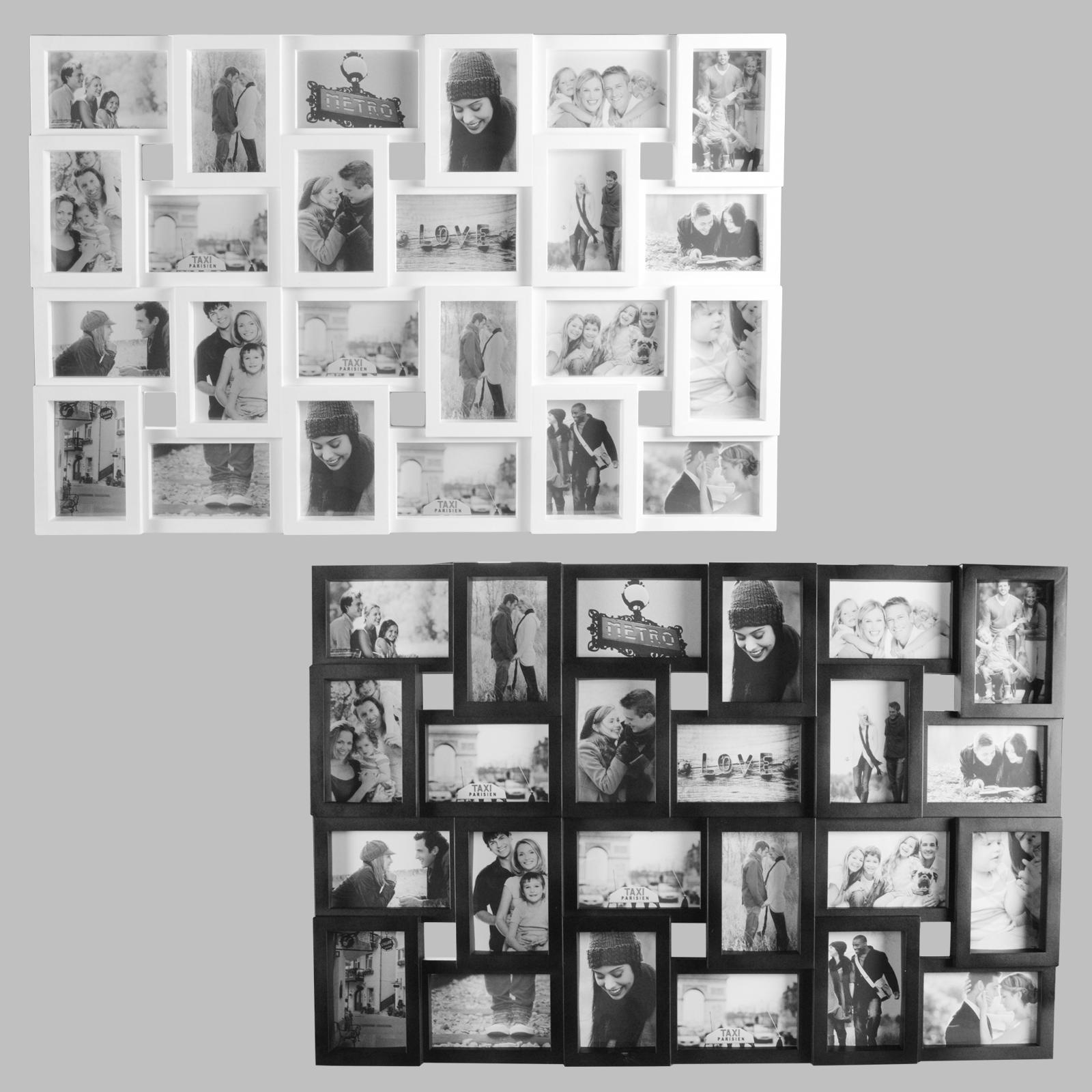 24 fotos bilderrahmen fotorahmen fotocollage collage fotogalerie bildergalerie ebay. Black Bedroom Furniture Sets. Home Design Ideas