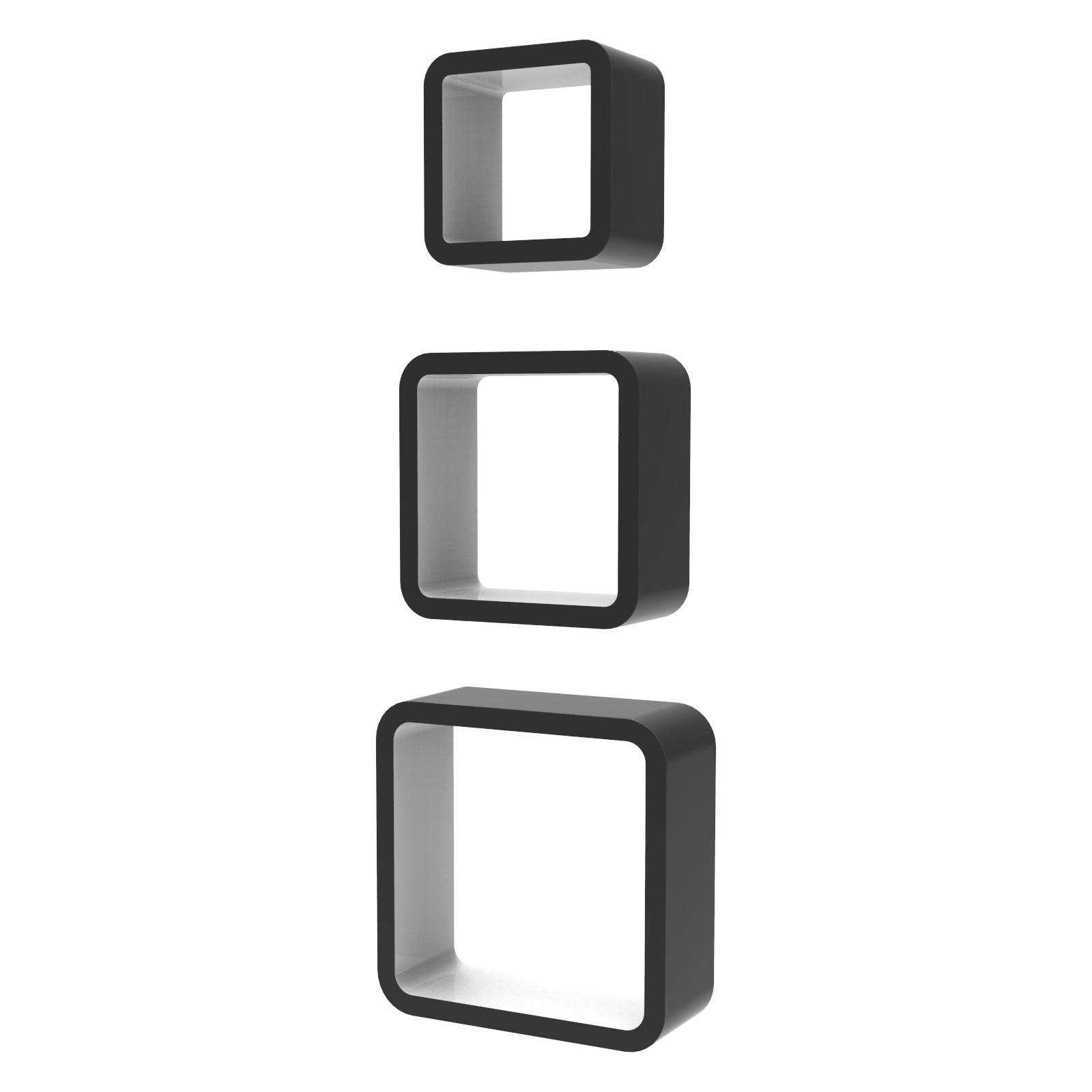 lot de 3 set cube 201 tag 232 res 201 tag 232 res 192 suspendre 201 tag 232 re murale biblioth 232 que ebay