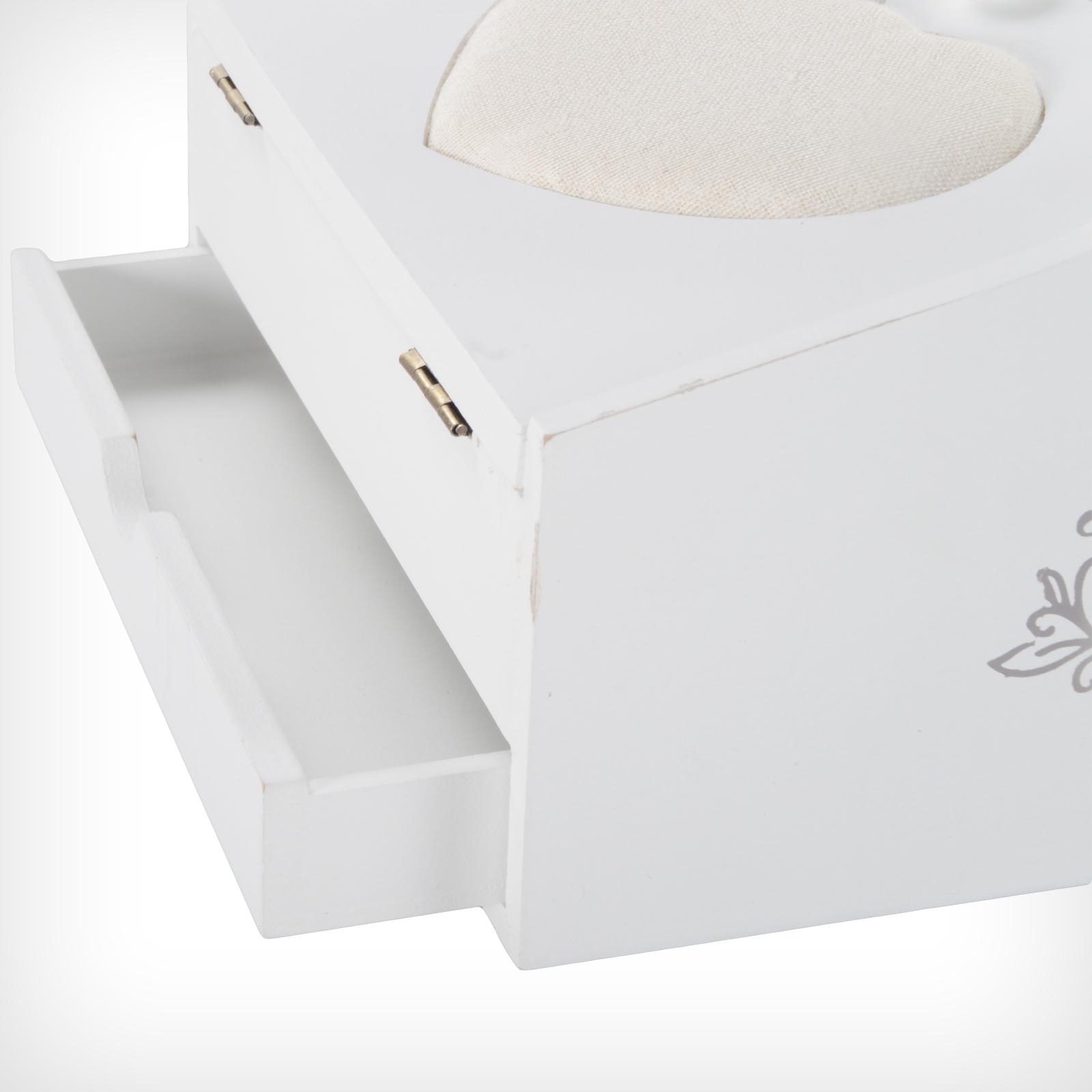 n hk stchen n hkasten n hbox n hkorb wei shabby chic nadelkissen aufbewahrung ebay. Black Bedroom Furniture Sets. Home Design Ideas