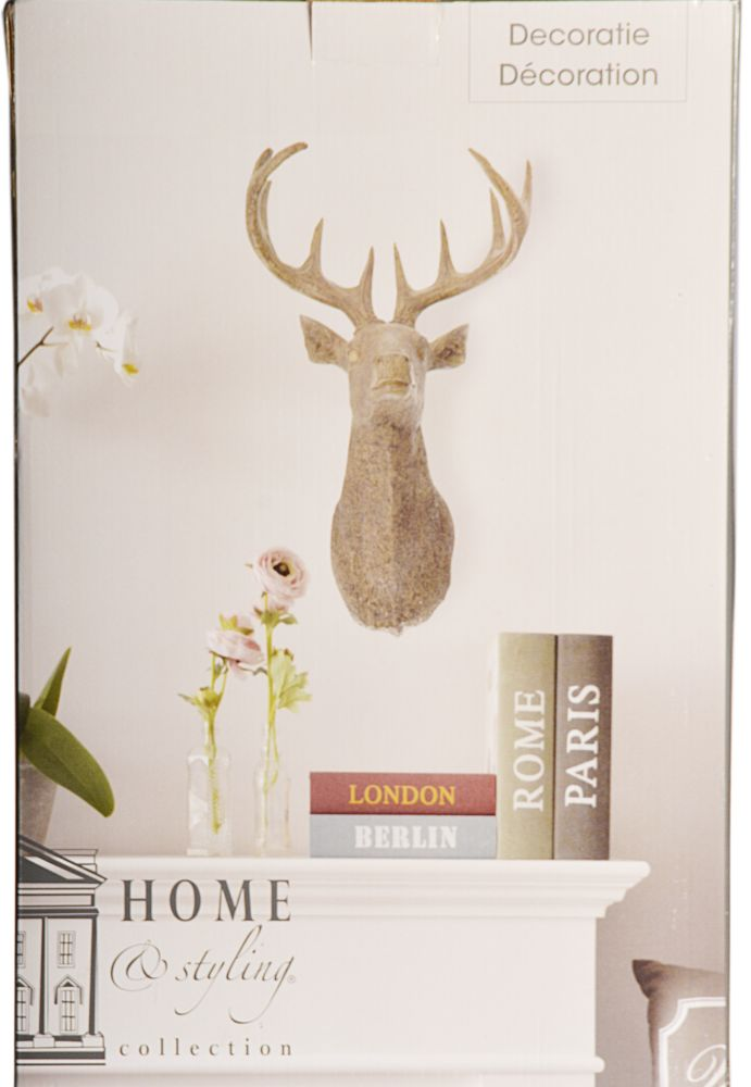 hirschkopf hirschgeweih hirsch wand weinachts deko geweih. Black Bedroom Furniture Sets. Home Design Ideas