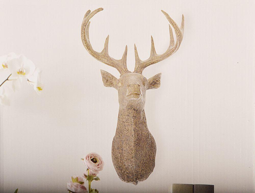 hirschkopf hirschgeweih hirsch wand weinachts deko geweih wanddeko weihnachten ebay. Black Bedroom Furniture Sets. Home Design Ideas