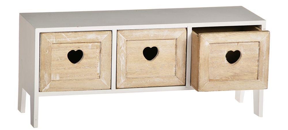 mini commode 3 tiroirs d co bo te pour perles tag re. Black Bedroom Furniture Sets. Home Design Ideas