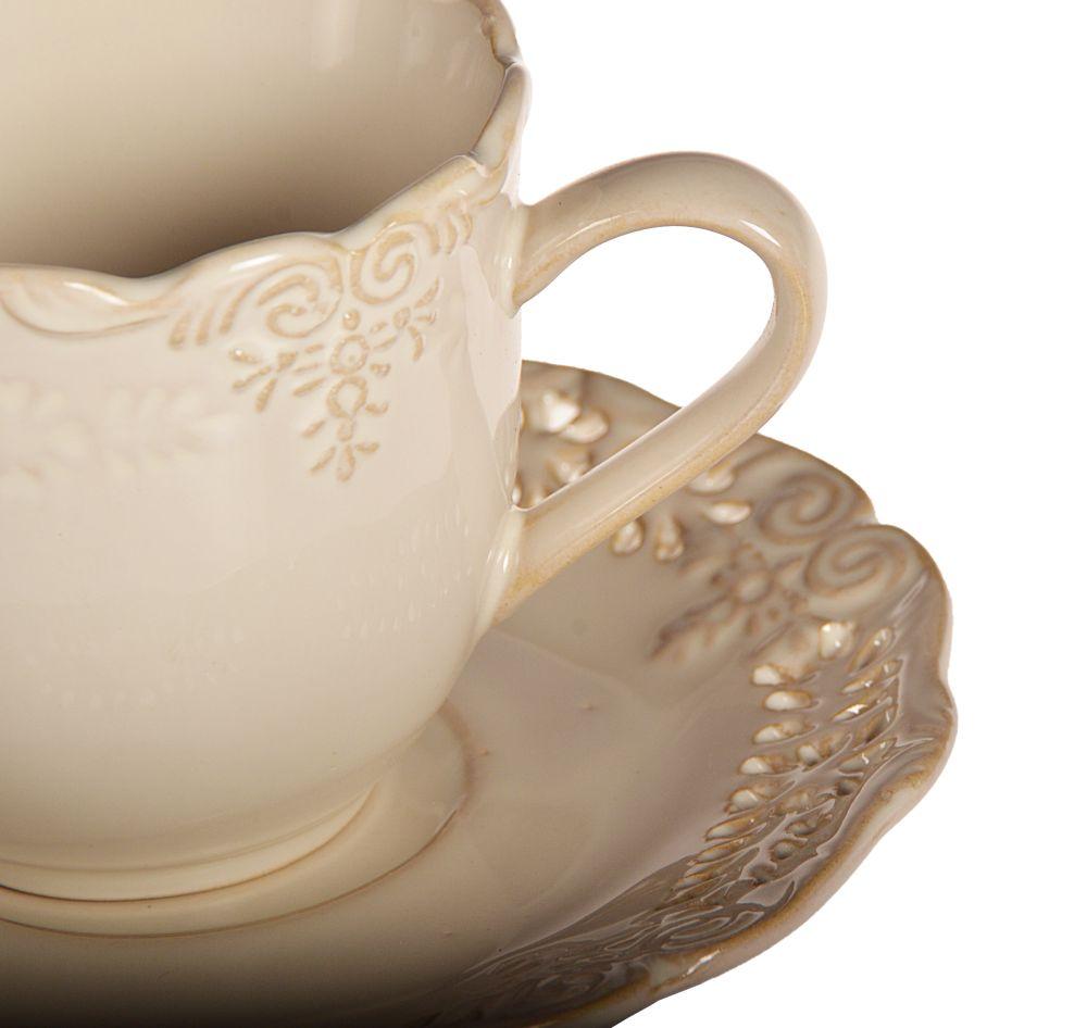 Servicio amelia set de vajilla caf mesa porcelana ebay - Vajilla shabby chic ...