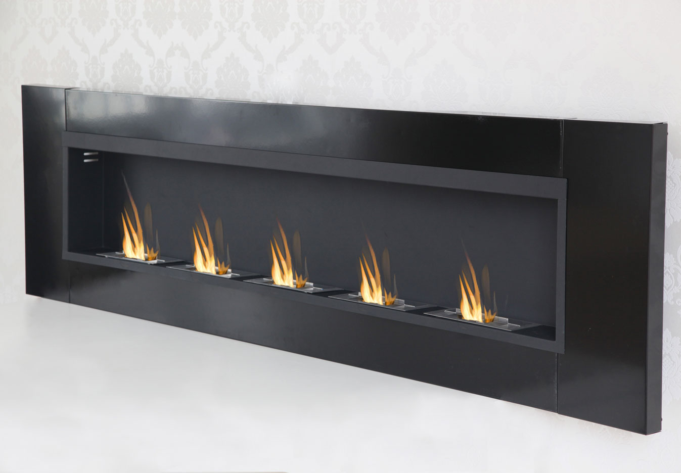 5 burner luxury chimney bio ethanol gel fireplace wall. Black Bedroom Furniture Sets. Home Design Ideas