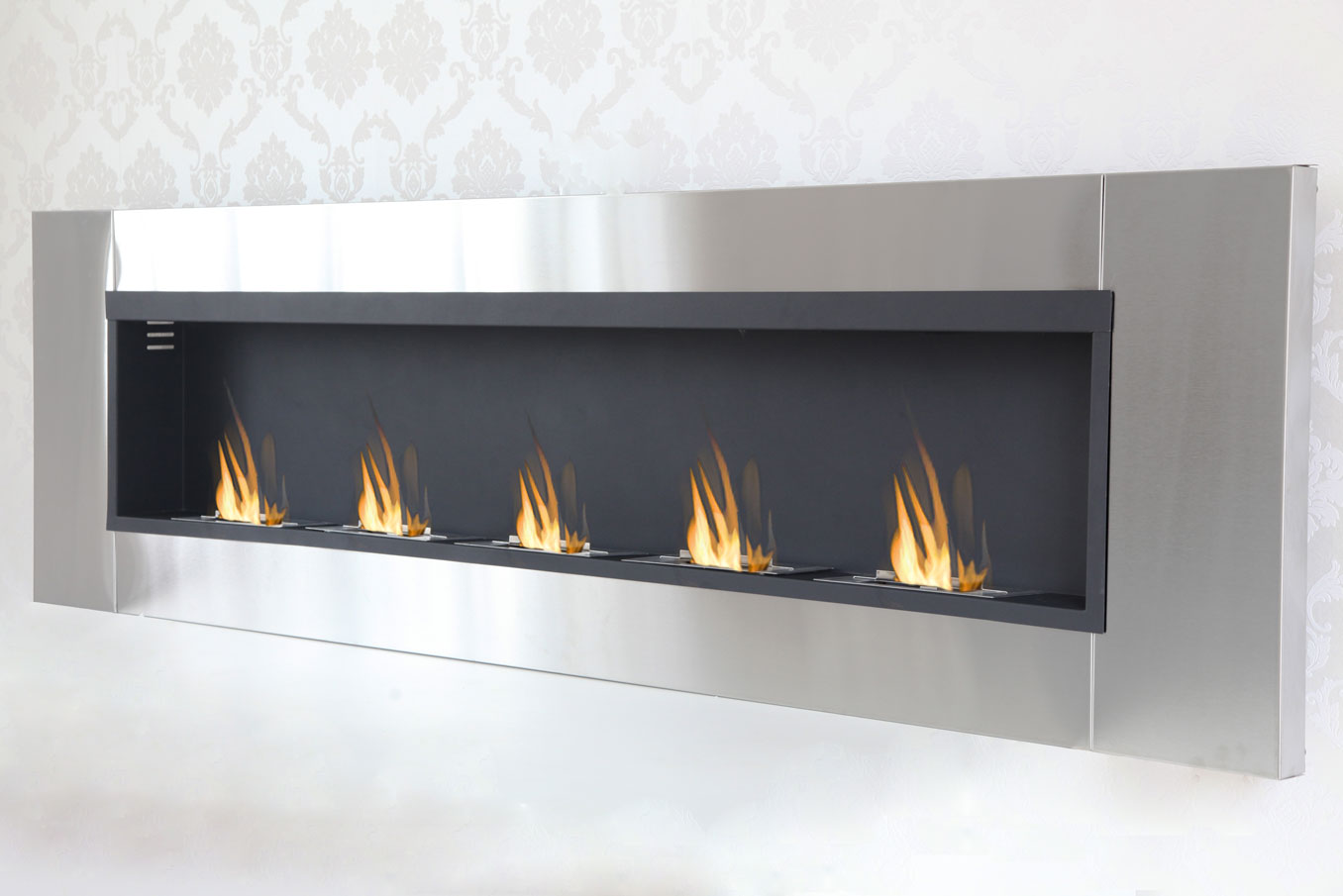 5 burner luxury chimney bio ethanol gel fireplace wall fireplace cheminee ebay. Black Bedroom Furniture Sets. Home Design Ideas