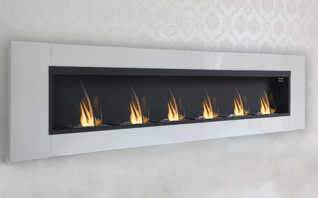 216 cm luxury chimney bio ethanol gel fireplace wall