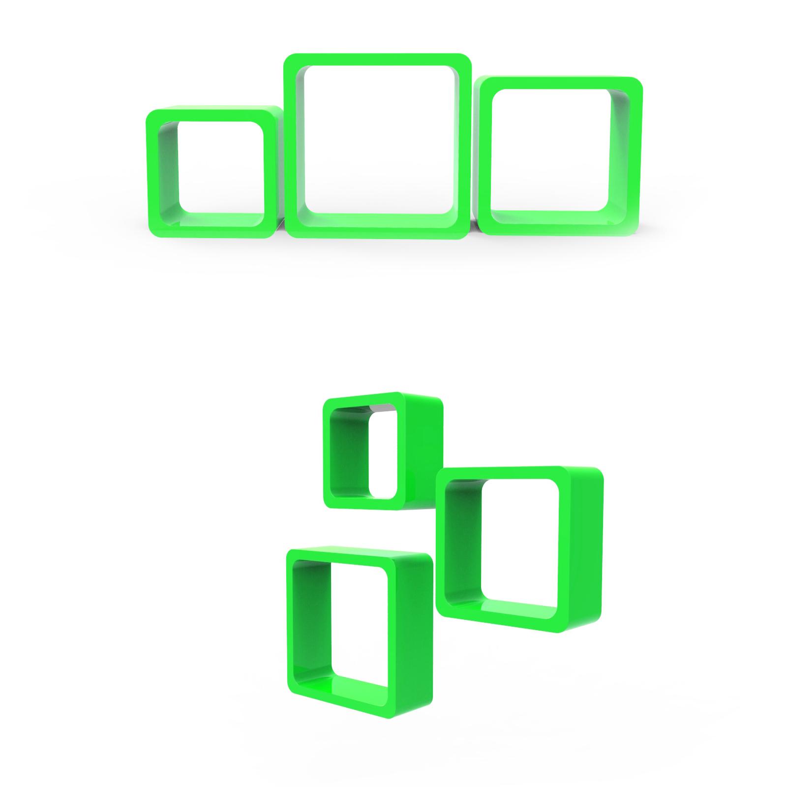cube regale 3er set h ngeregal wandregal b cherregal. Black Bedroom Furniture Sets. Home Design Ideas