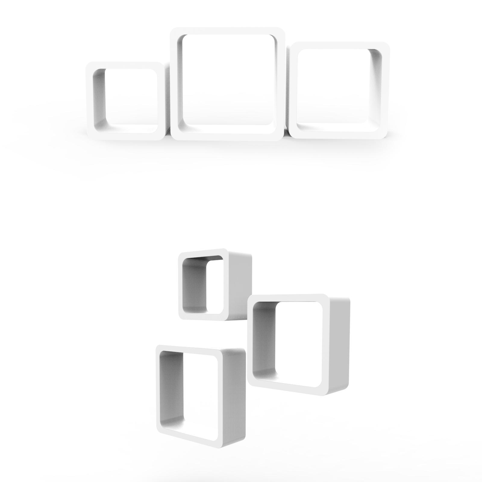 cube regal h ngeregal wandregal b cherregal hochglanz mdf regal wei c ware ebay. Black Bedroom Furniture Sets. Home Design Ideas