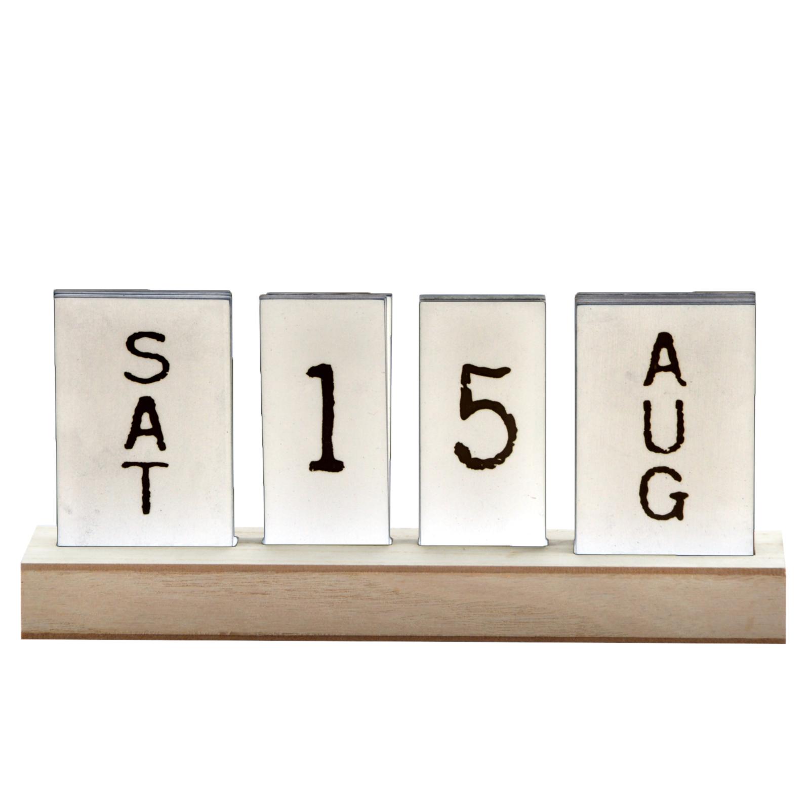 steckkalender ewiger kalender dauerkalender holzkalender. Black Bedroom Furniture Sets. Home Design Ideas