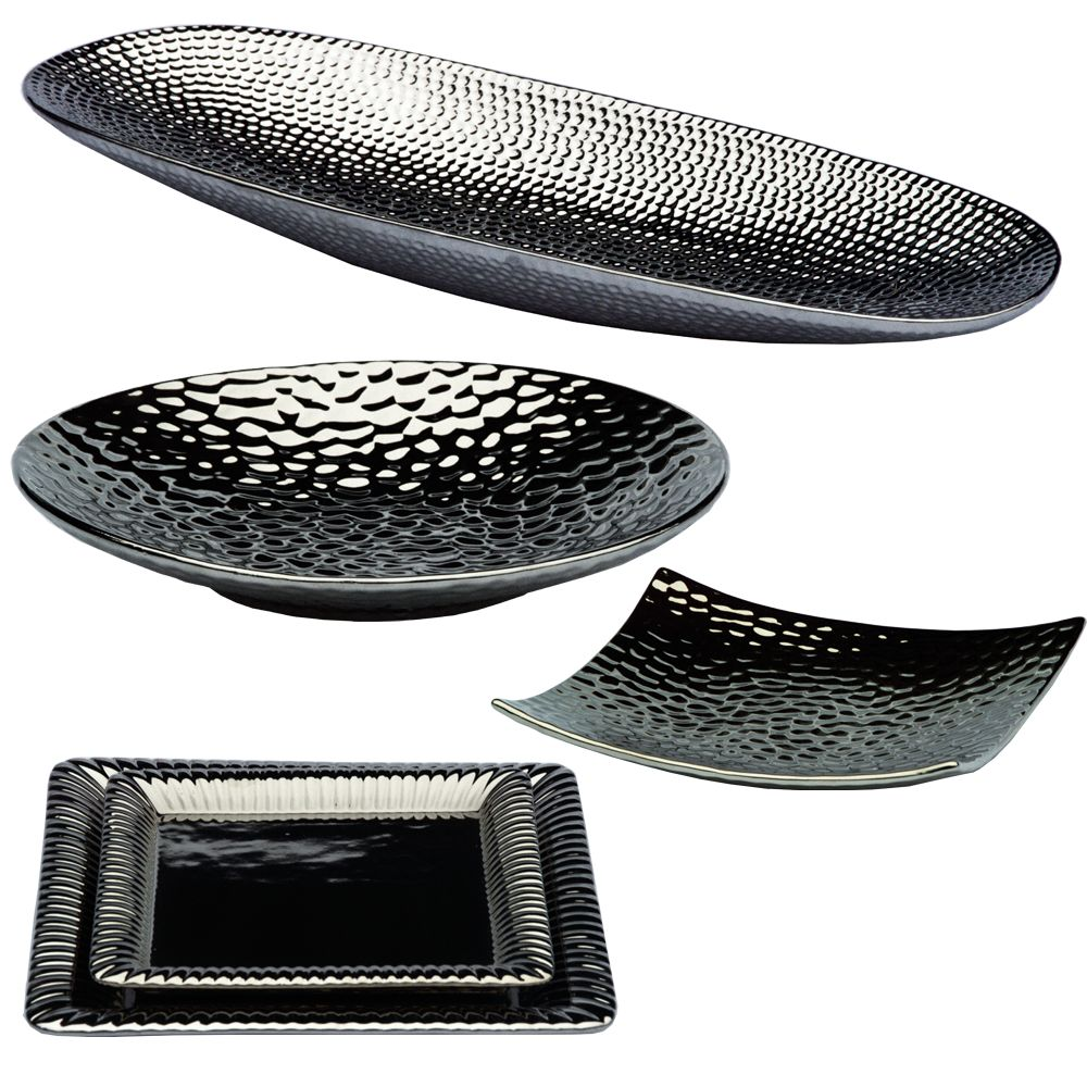 Modern Decorative Dish Silver Vases Plate Fruit Bowl